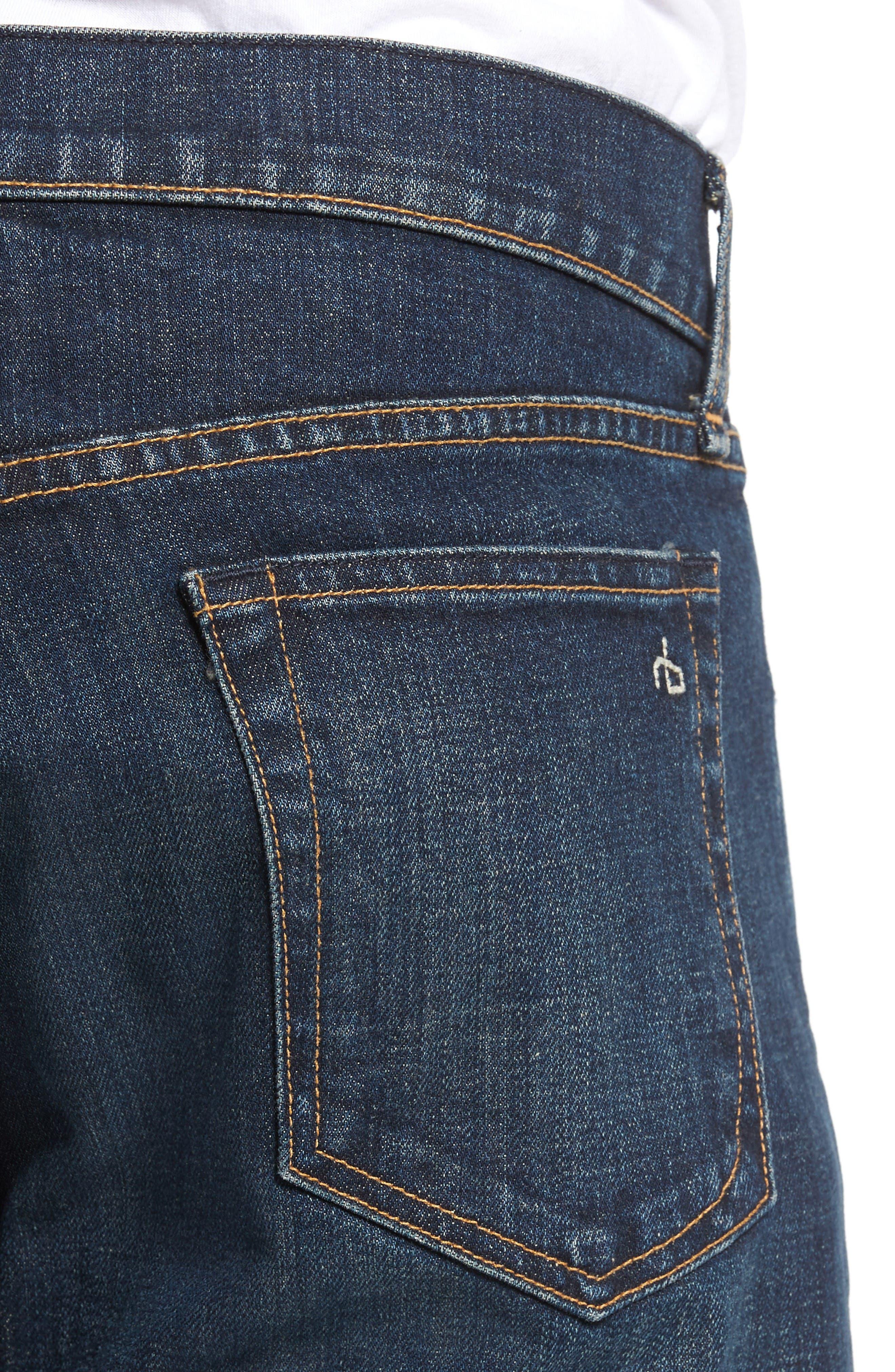 Alternate Image 4  - rag & bone Fit 3 Slim Straight Leg Jeans (Plattsburg)