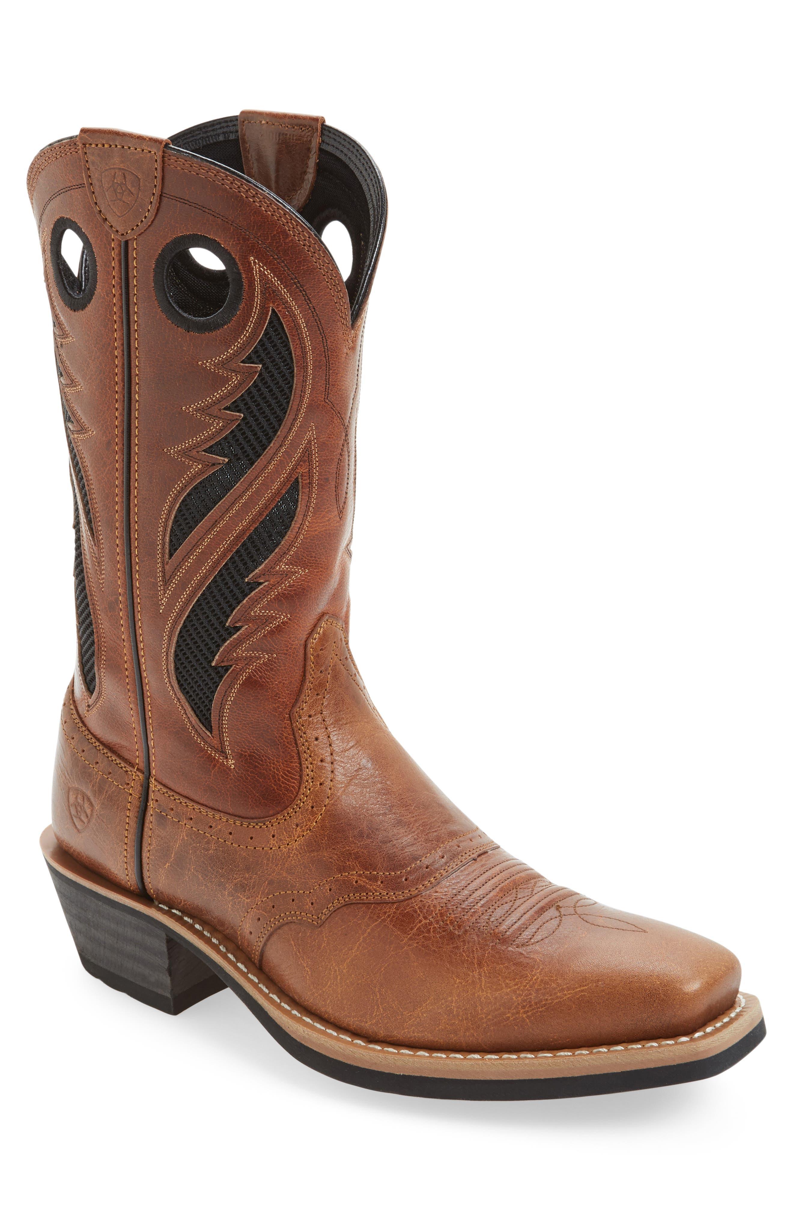 Heritage Roughstock VentTEK Cowboy Boot,                             Main thumbnail 1, color,                             Gingersnap