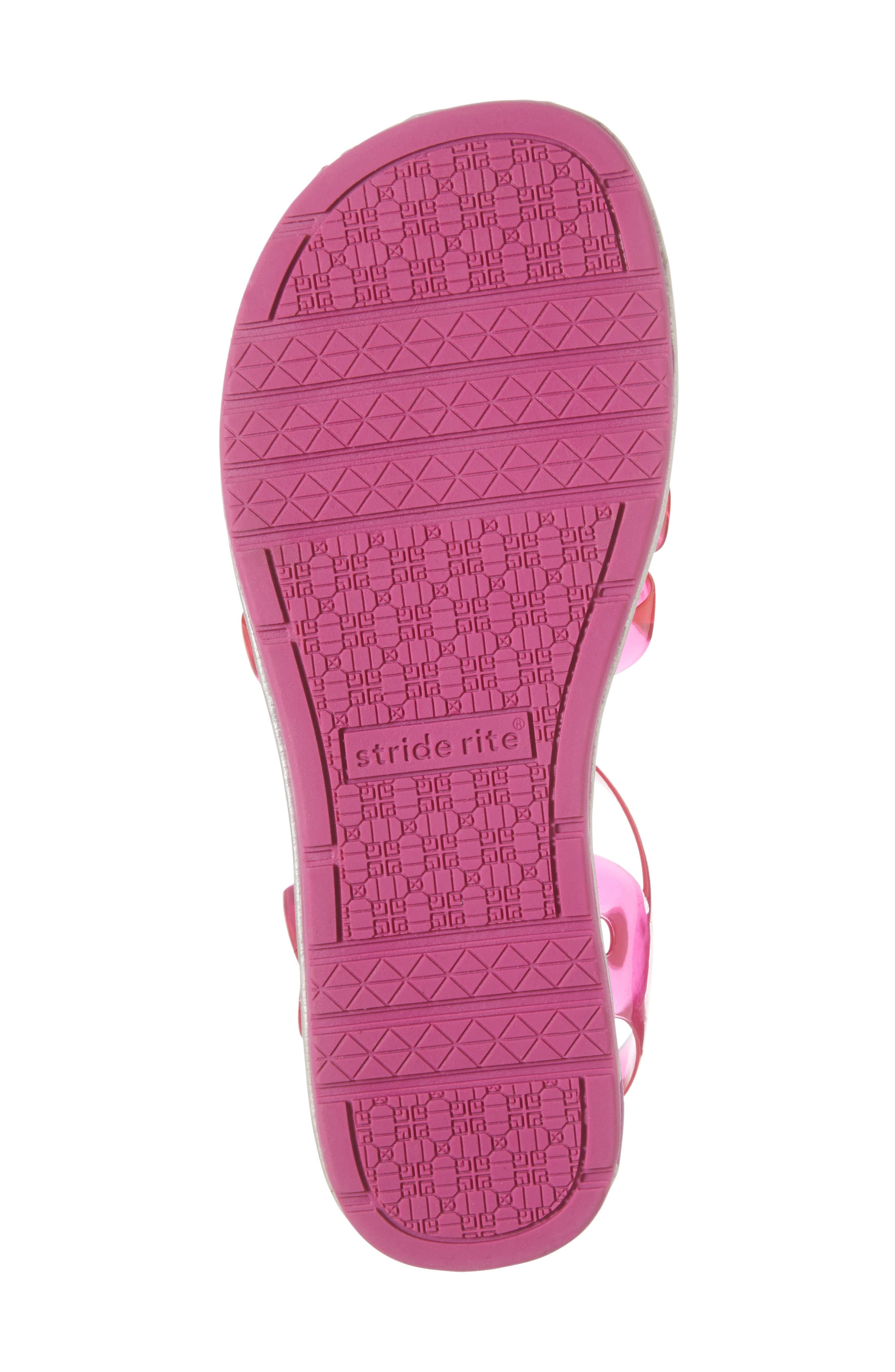 Natalie Jelly Sandal,                             Alternate thumbnail 6, color,                             Magenta