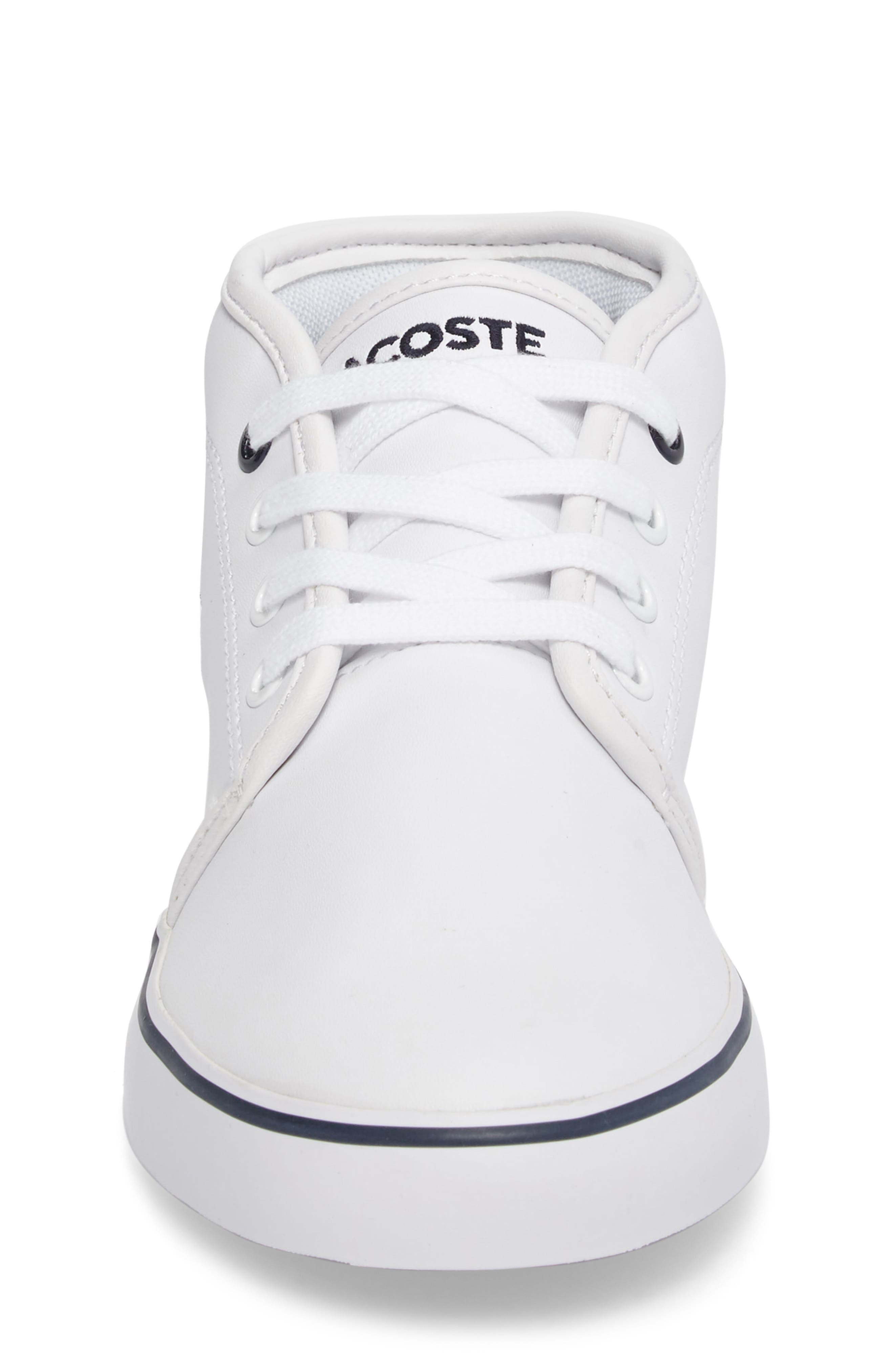 Ampthill High Top Sneaker,                             Alternate thumbnail 4, color,                             White/ Navy Faux Leather