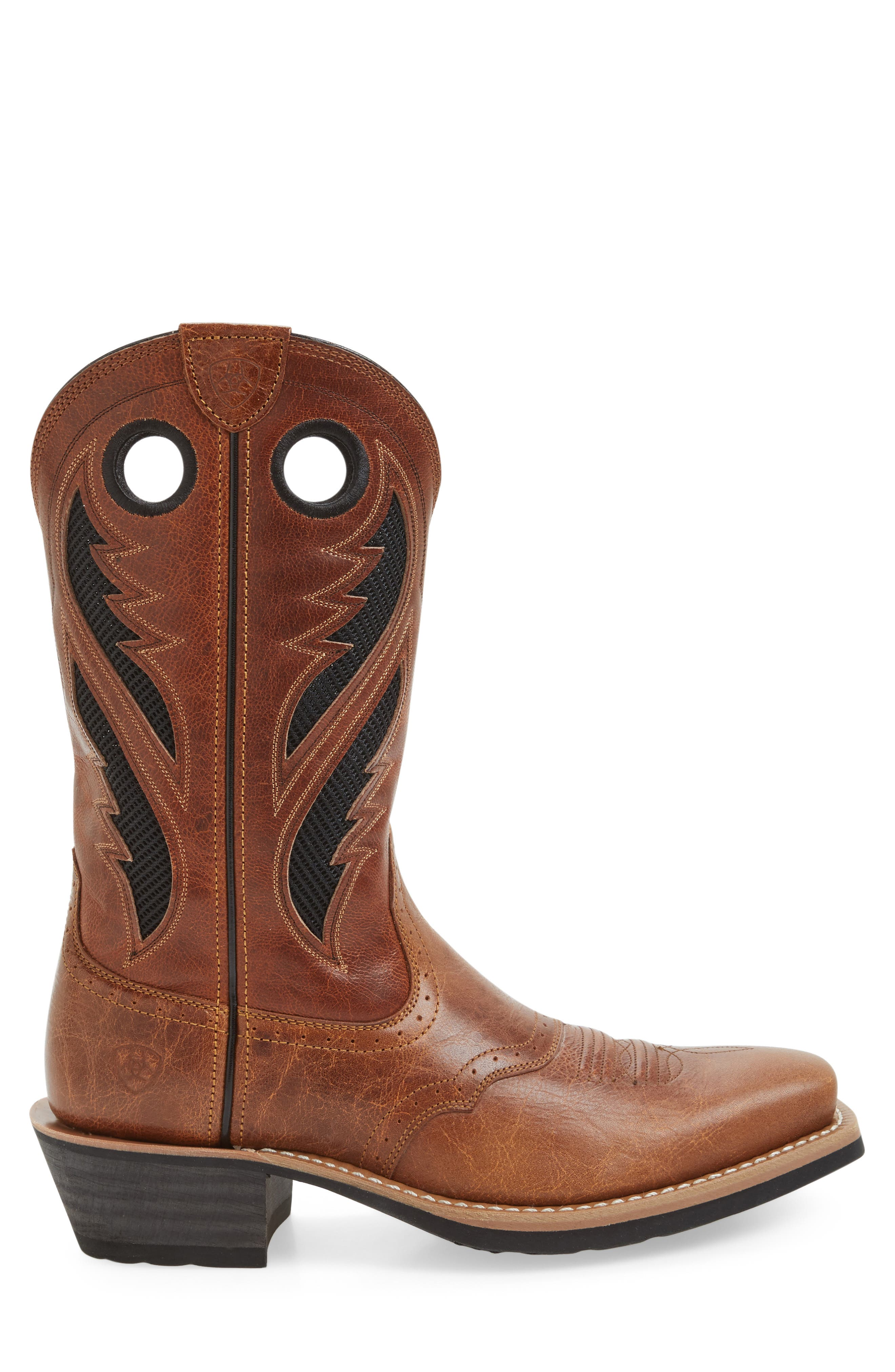 Heritage Roughstock VentTEK Cowboy Boot,                             Alternate thumbnail 4, color,                             Gingersnap