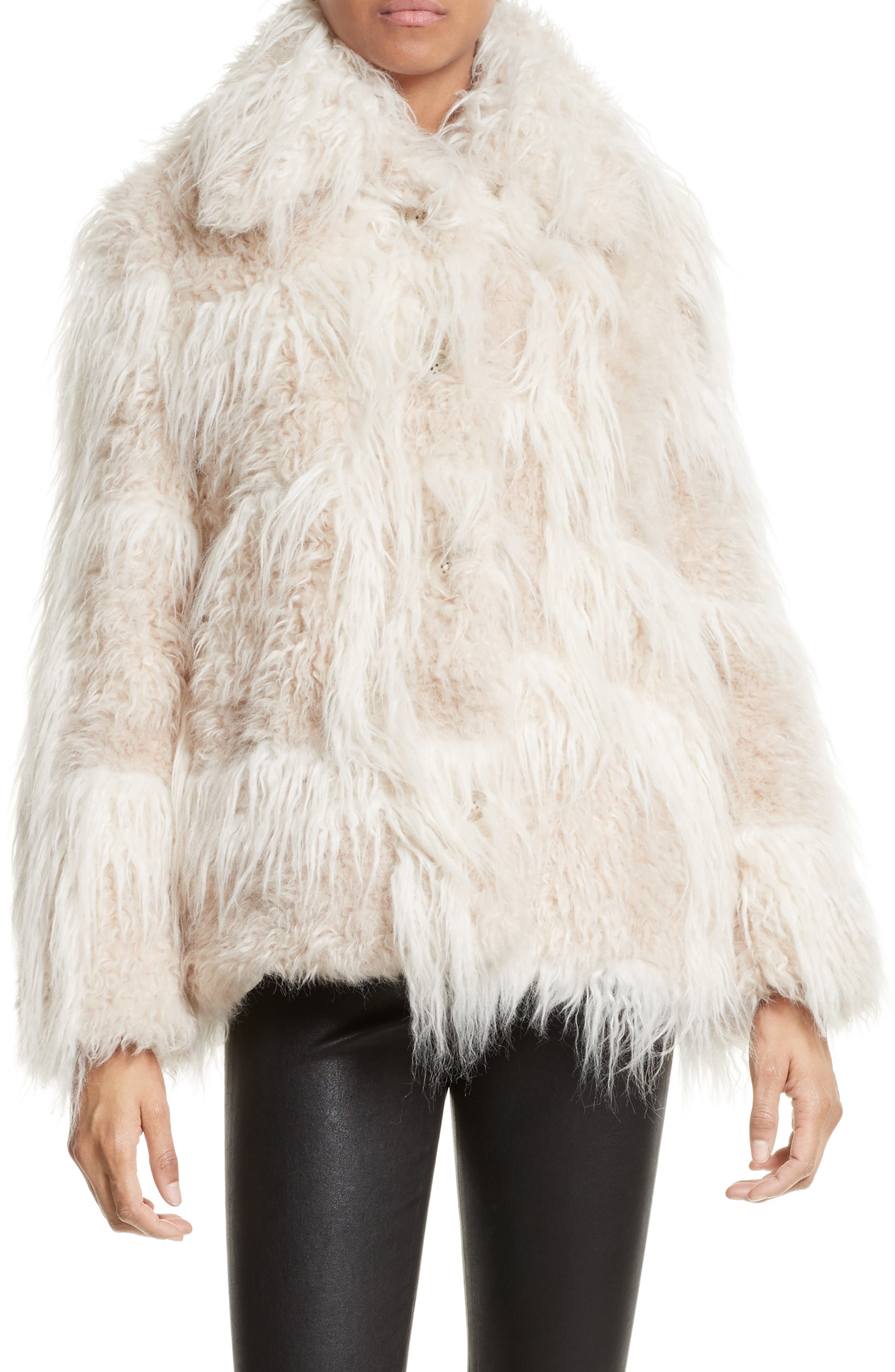 Main Image - Helmut Lang Faux Fur Jacket