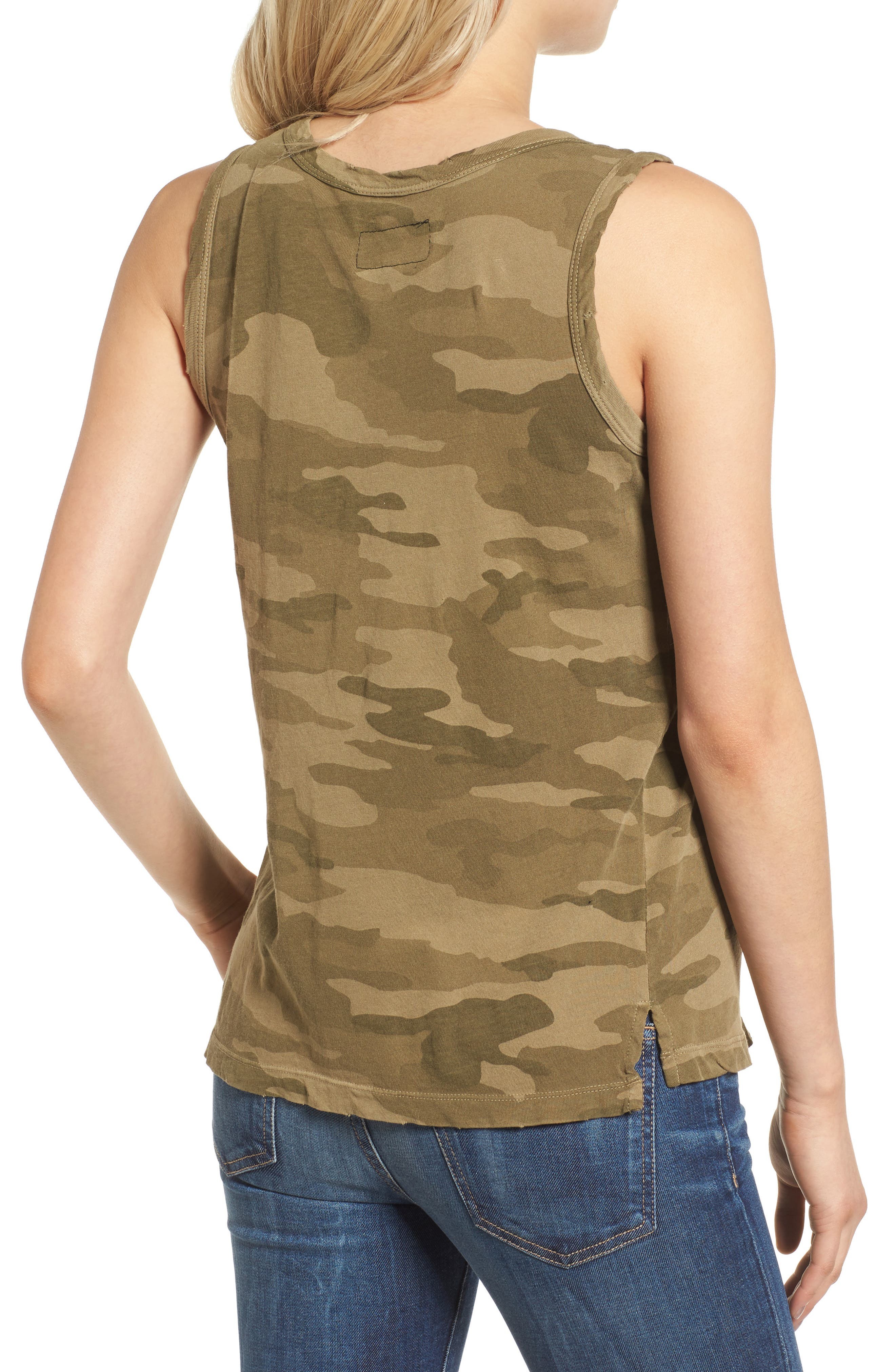 The Muscle Tee,                             Alternate thumbnail 2, color,                             Army Camo