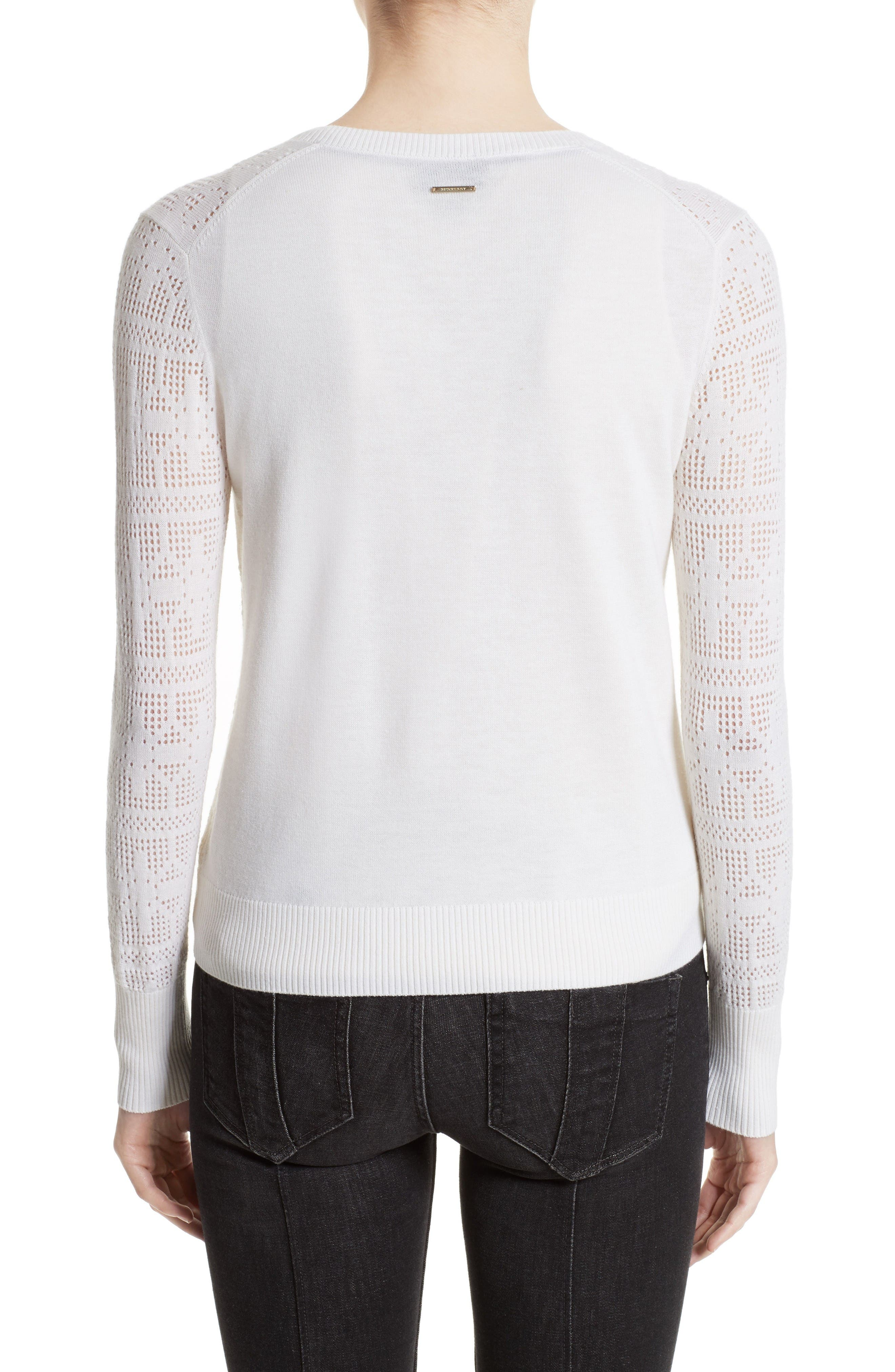 River Elvo Wool & Cashmere Cardigan,                             Alternate thumbnail 2, color,                             Natural White