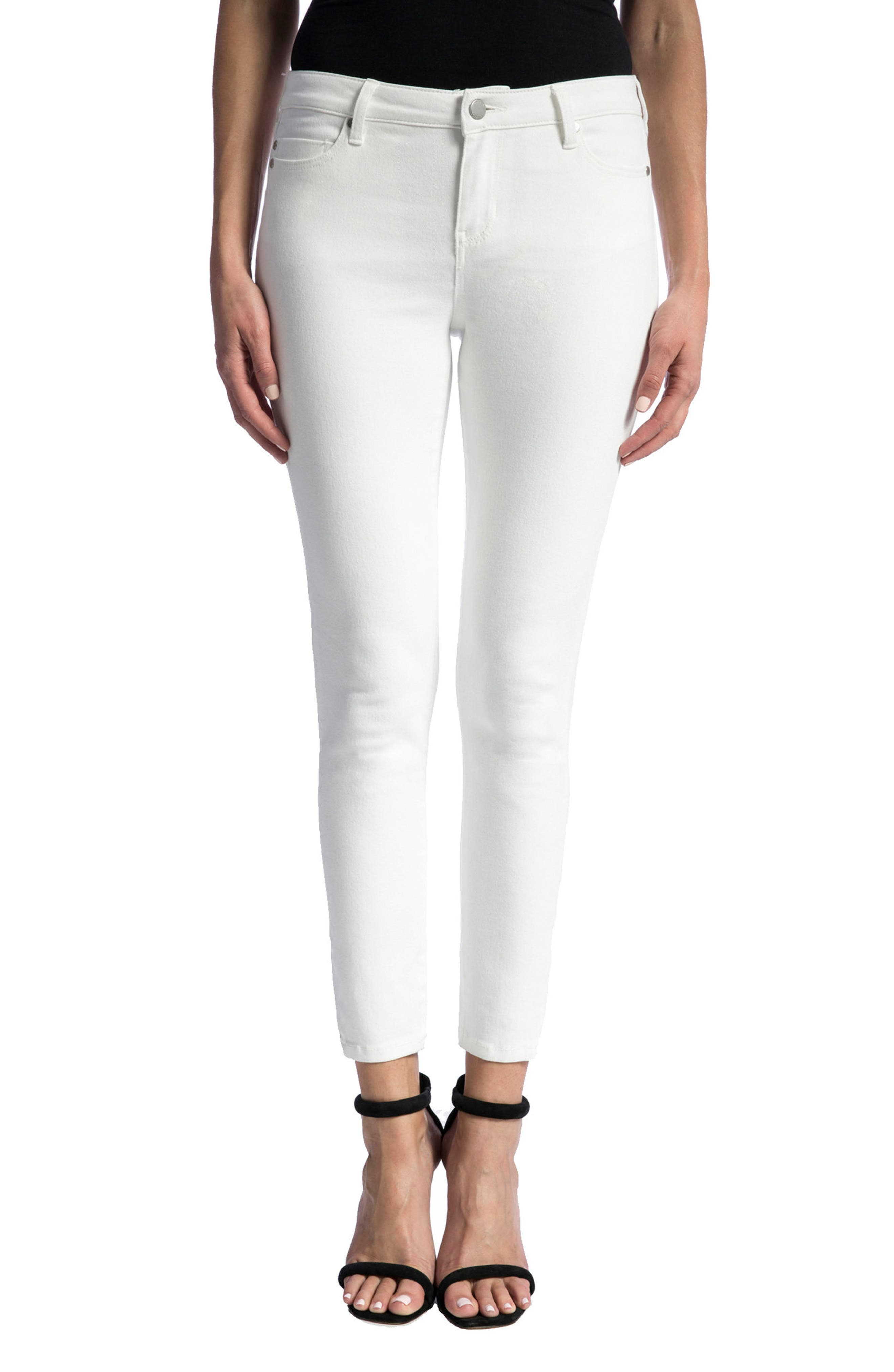 Penny Ankle Skinny Jeans,                             Main thumbnail 1, color,                             Bright White