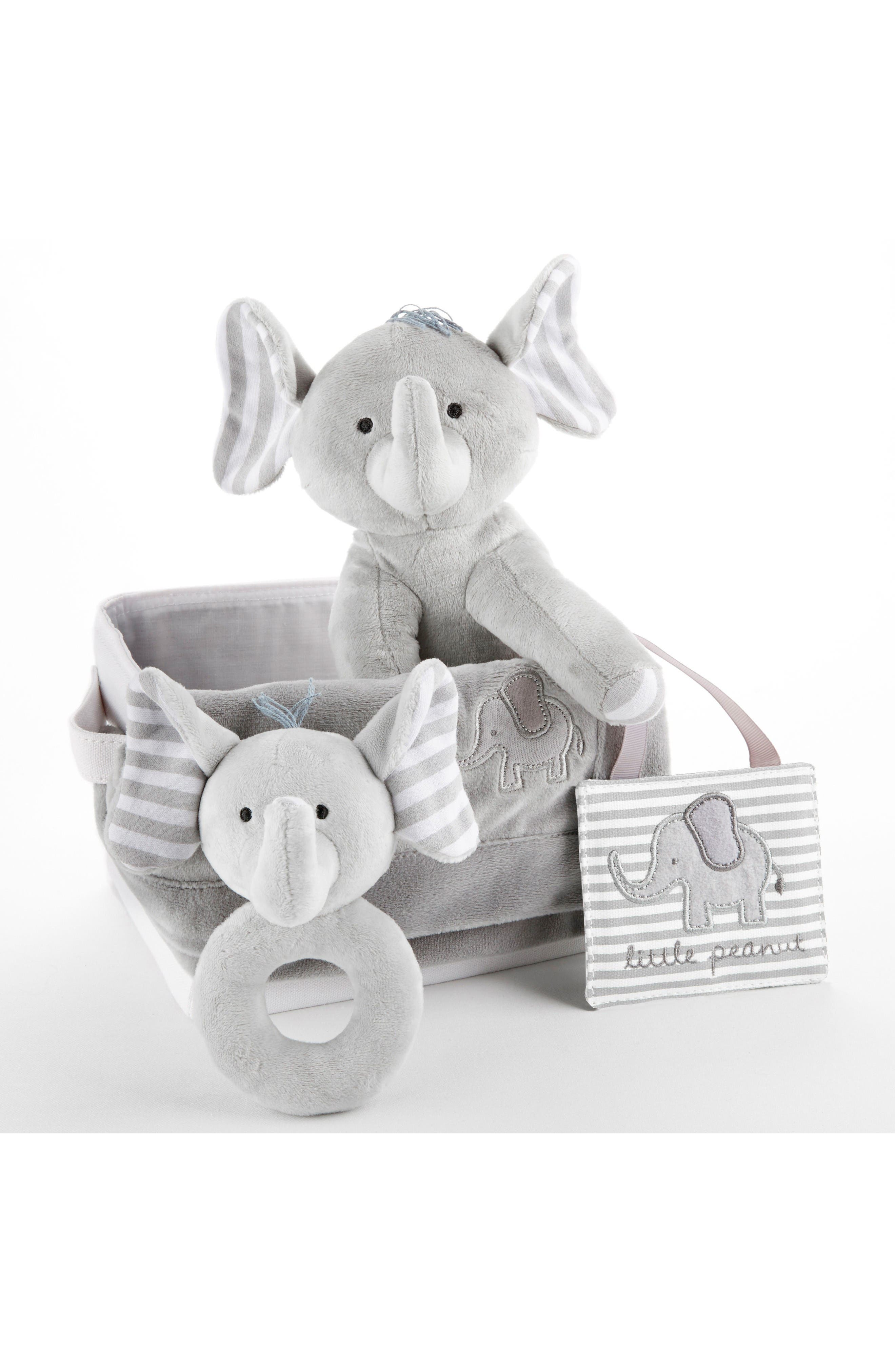 Alternate Image 2  - Baby Aspen Little Peanut Elephant 5-Piece Gift Set