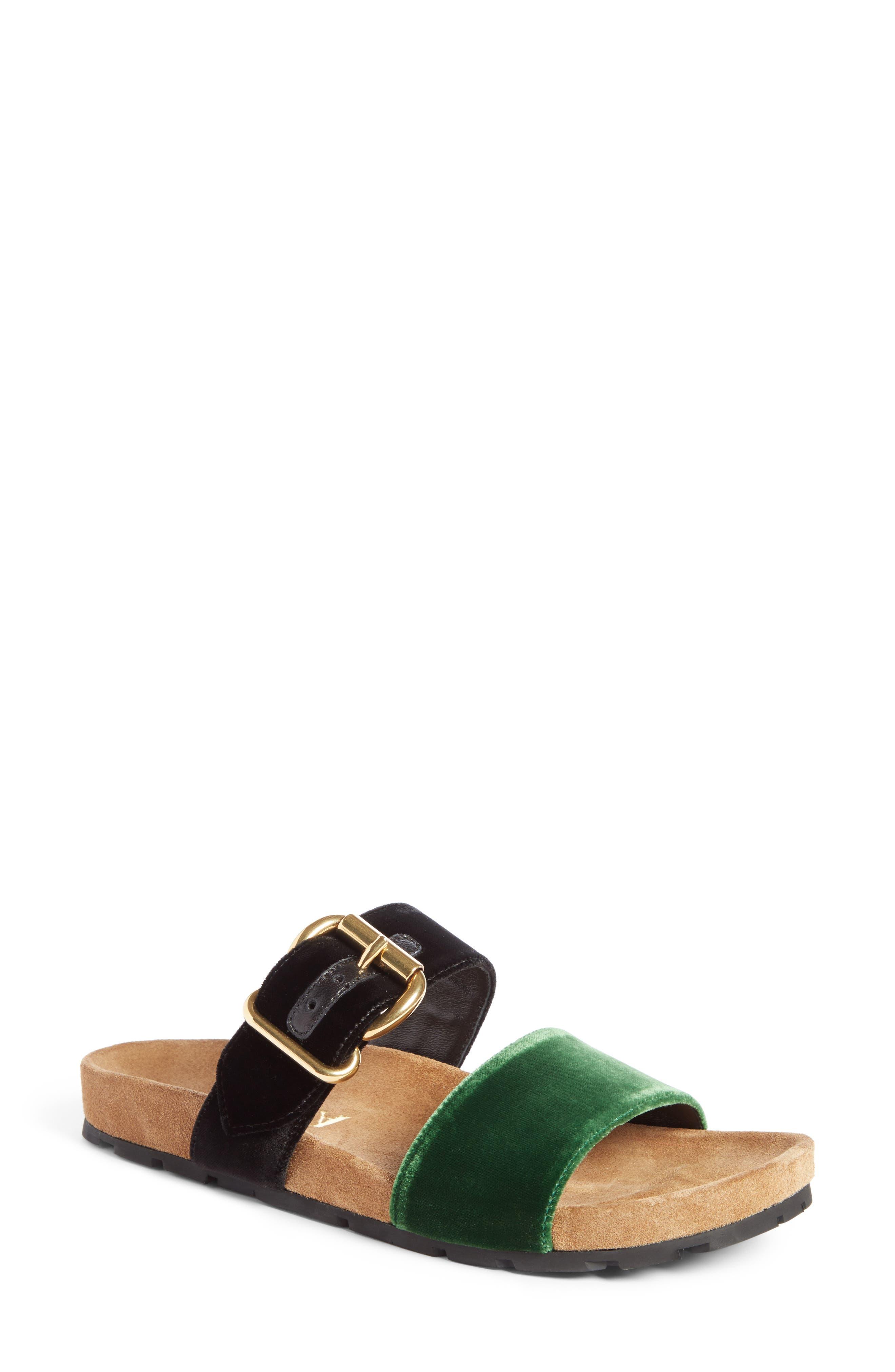 Prada Double Band Slide Sandal (Women)
