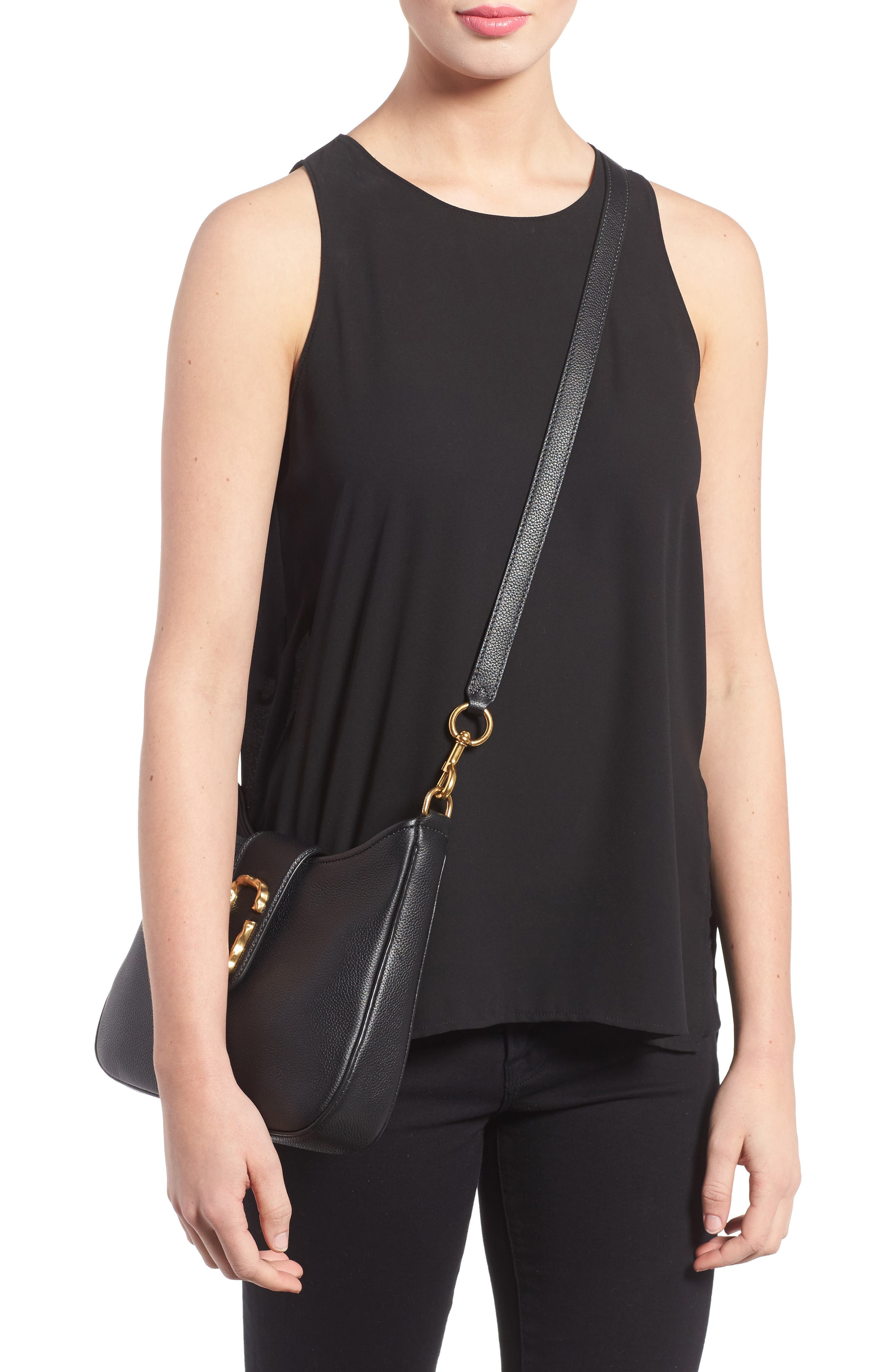 Alternate Image 2  - MARC JACOBS Small Interlock Leather Hobo