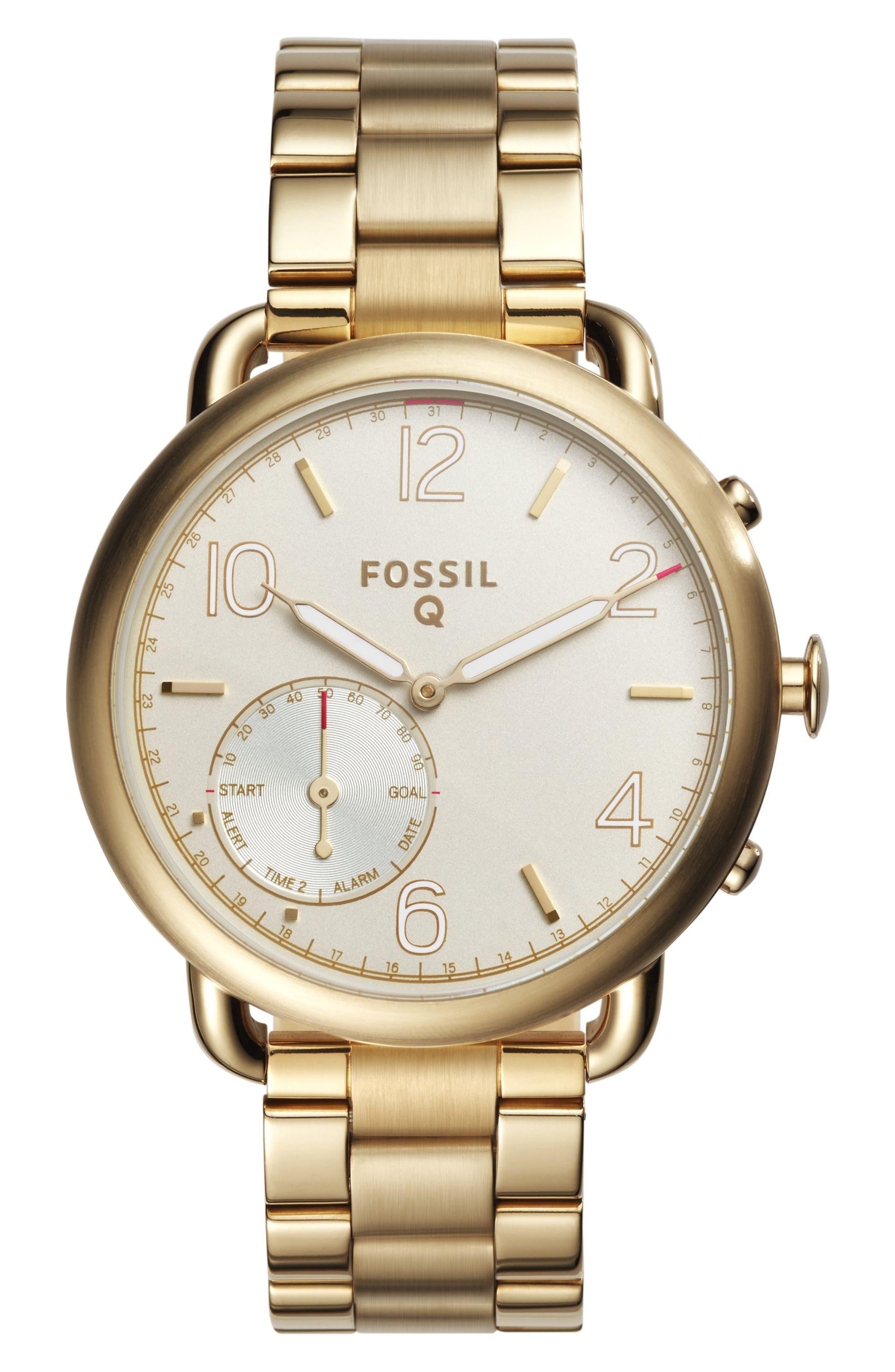 Tailor Smart Bracelet Watch, 40mm,                             Main thumbnail 1, color,                             Gold/ White
