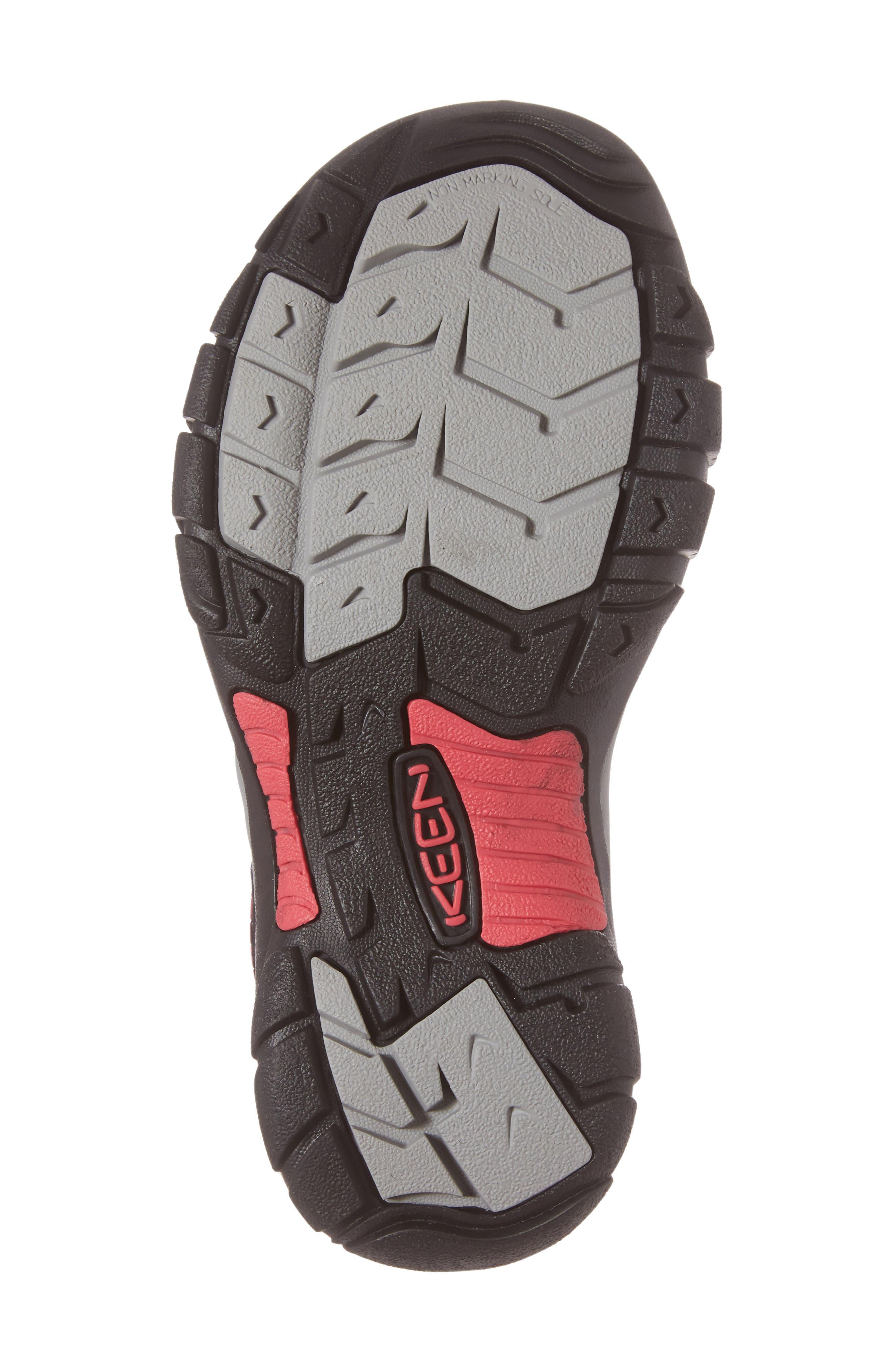 'Newport H2' Sandal,                             Alternate thumbnail 6, color,                             Black/ Bright Rose Fabric