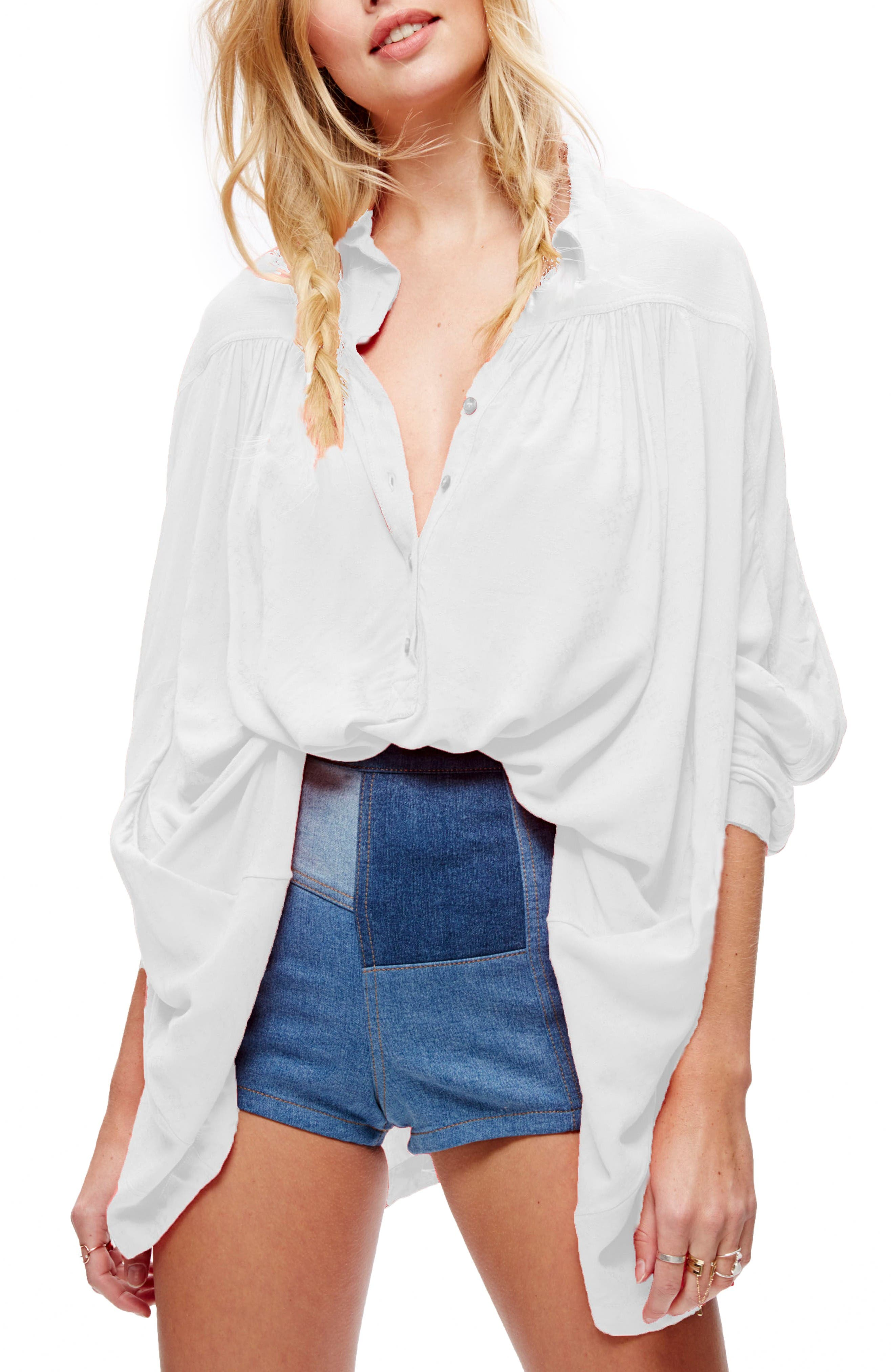 Lovely Day Shirt,                         Main,                         color, Ivory