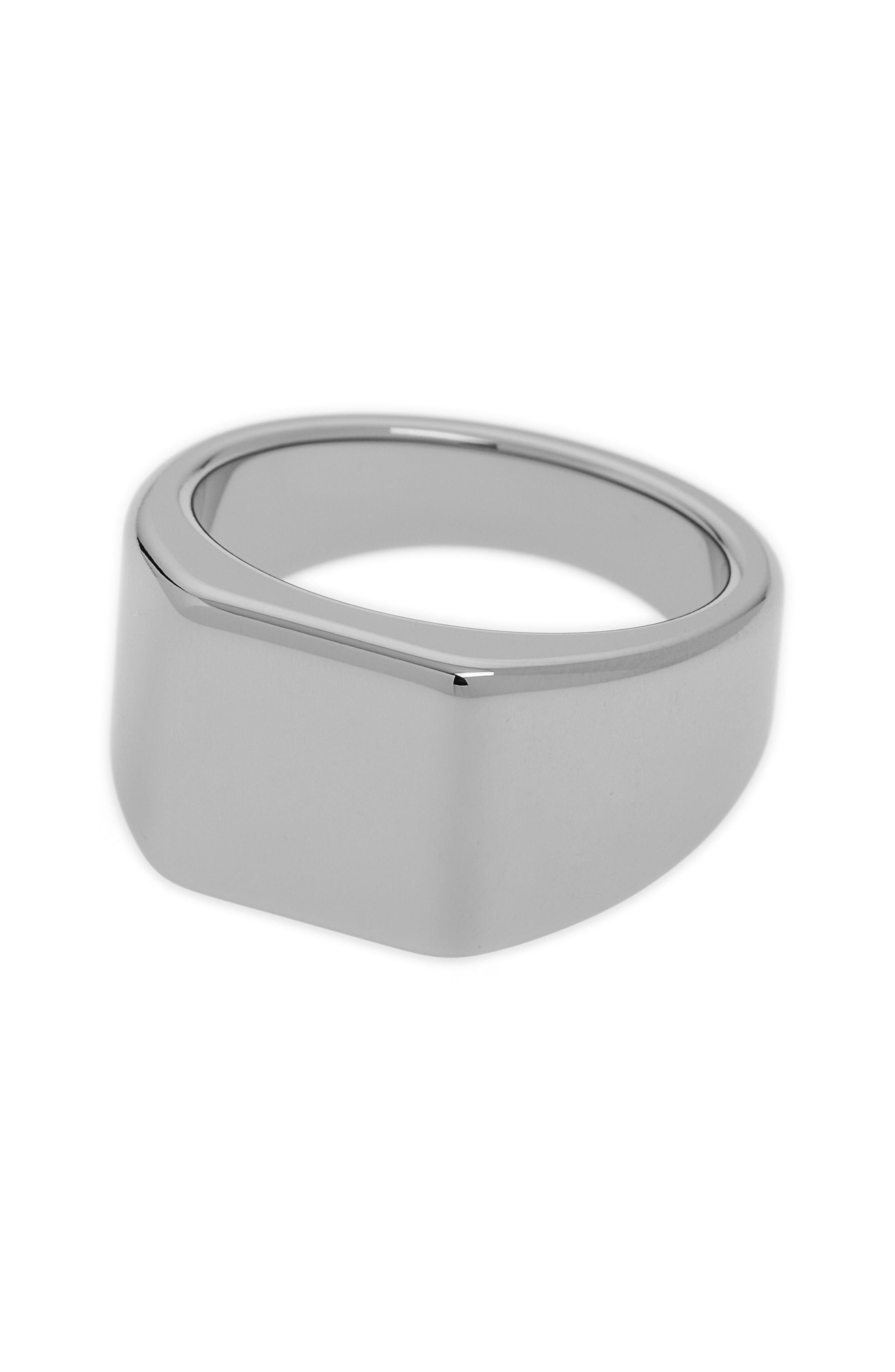 Lourd Square Ring,                             Alternate thumbnail 3, color,                             Tungsten