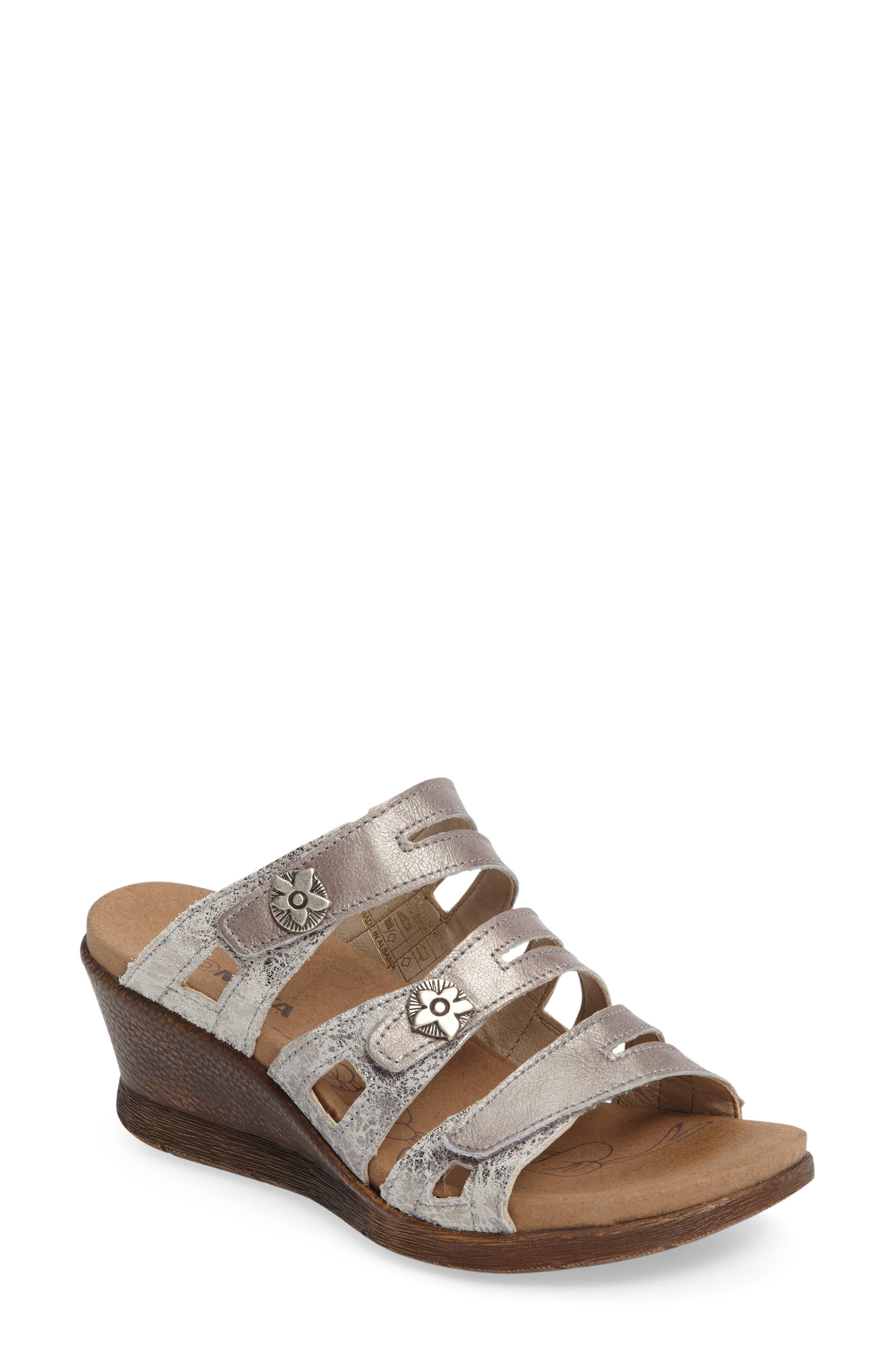 Nevis 04 Sandal,                             Main thumbnail 1, color,                             Platin Leather