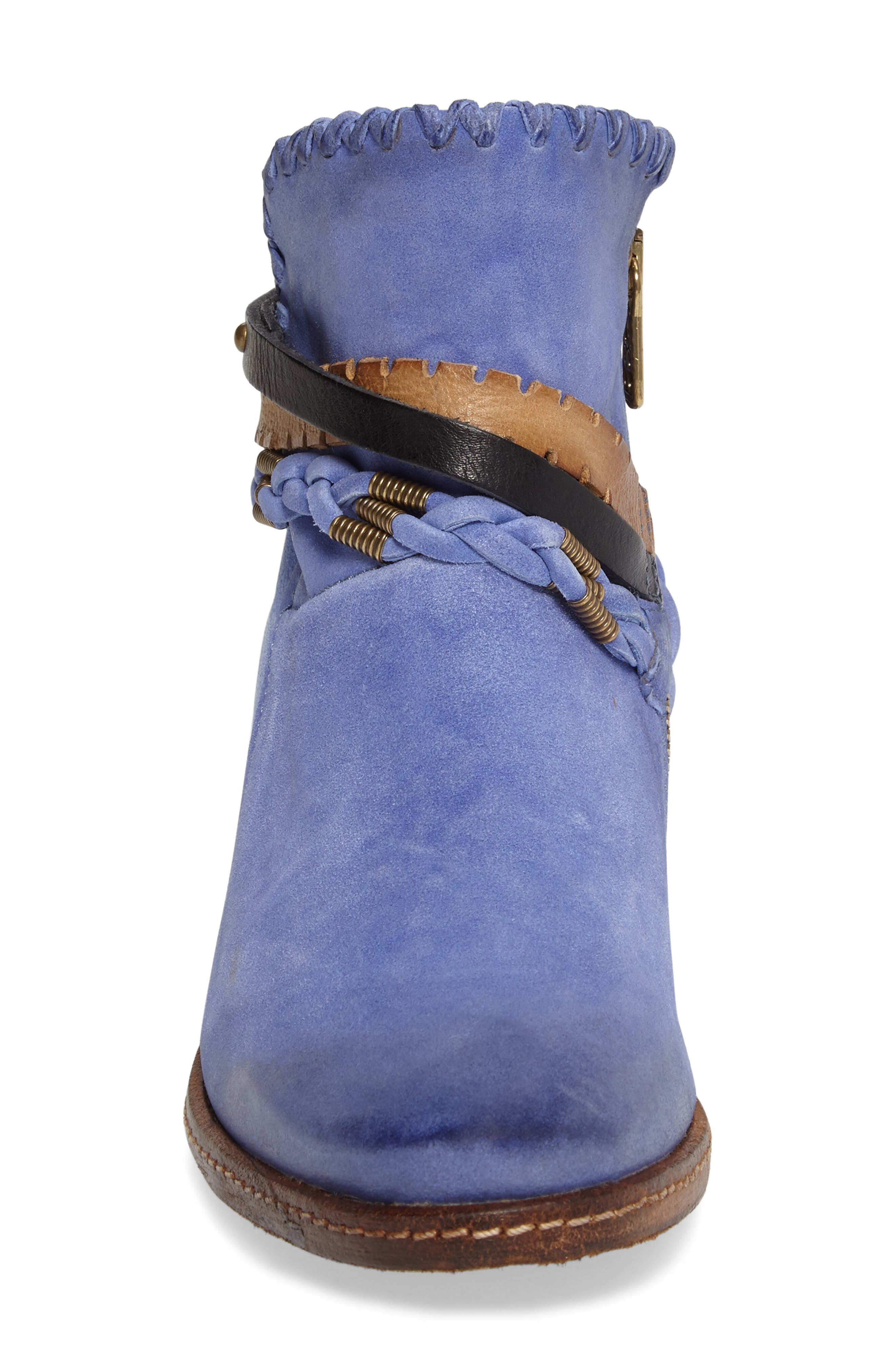 A.S. 98 Barney Bootie,                             Alternate thumbnail 4, color,                             Blue Leather