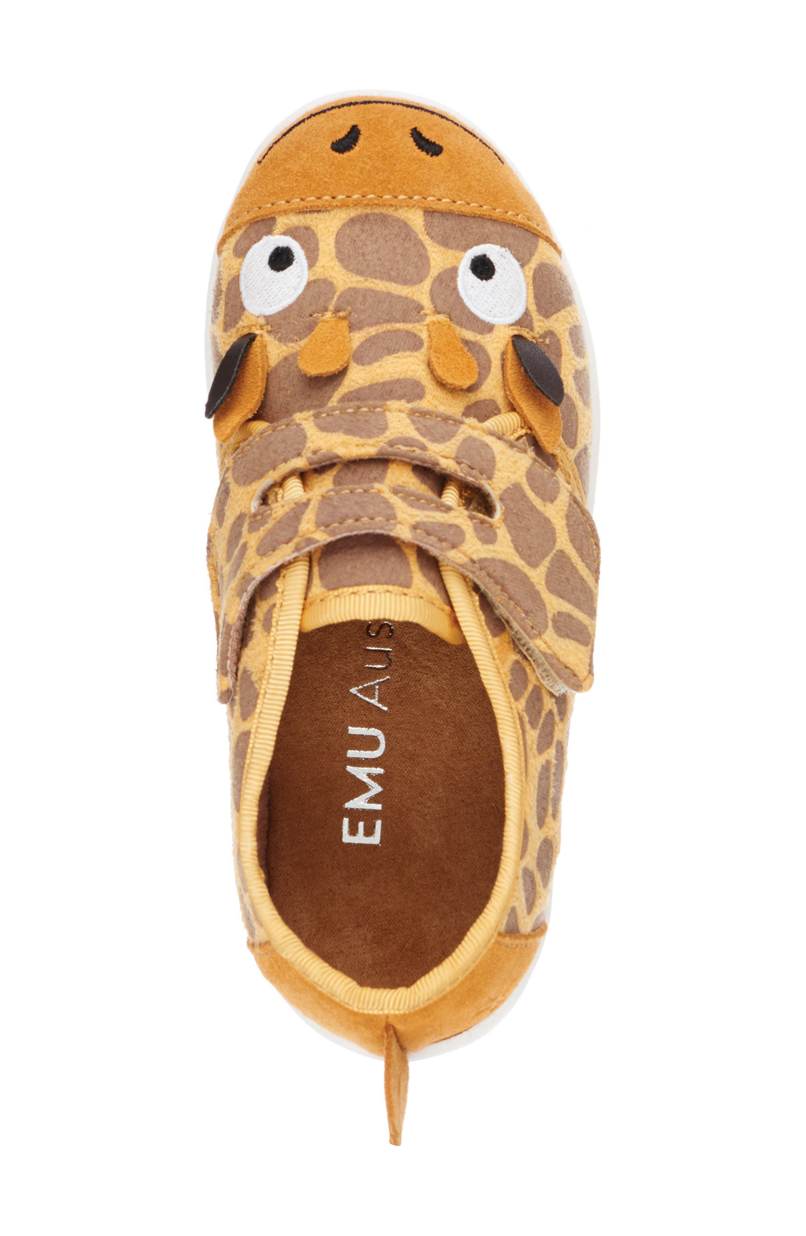 Giraffe Sneaker,                             Alternate thumbnail 4, color,                             Yellow