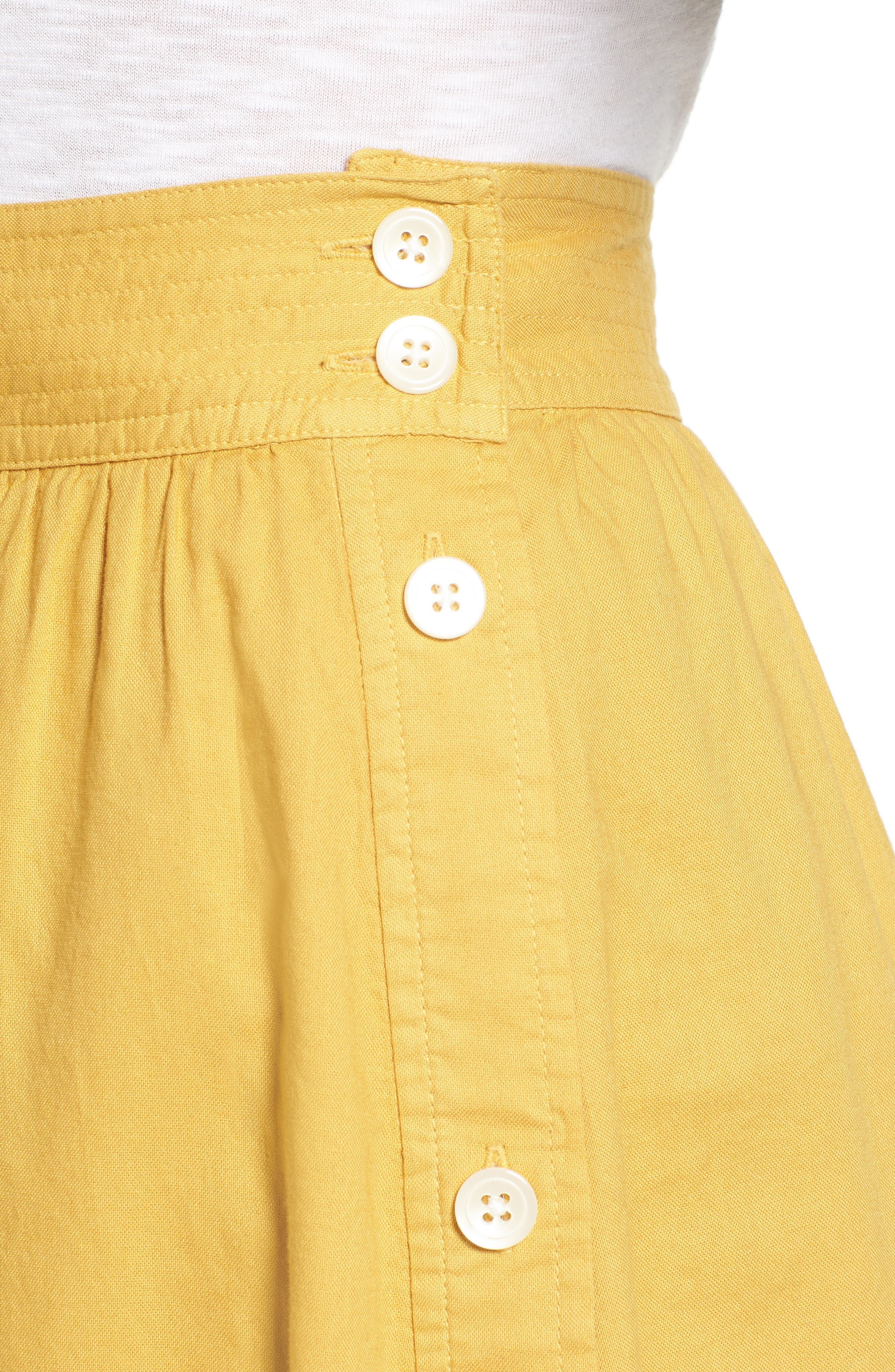 Alternate Image 4  - Madewell Side Button Midi Skirt