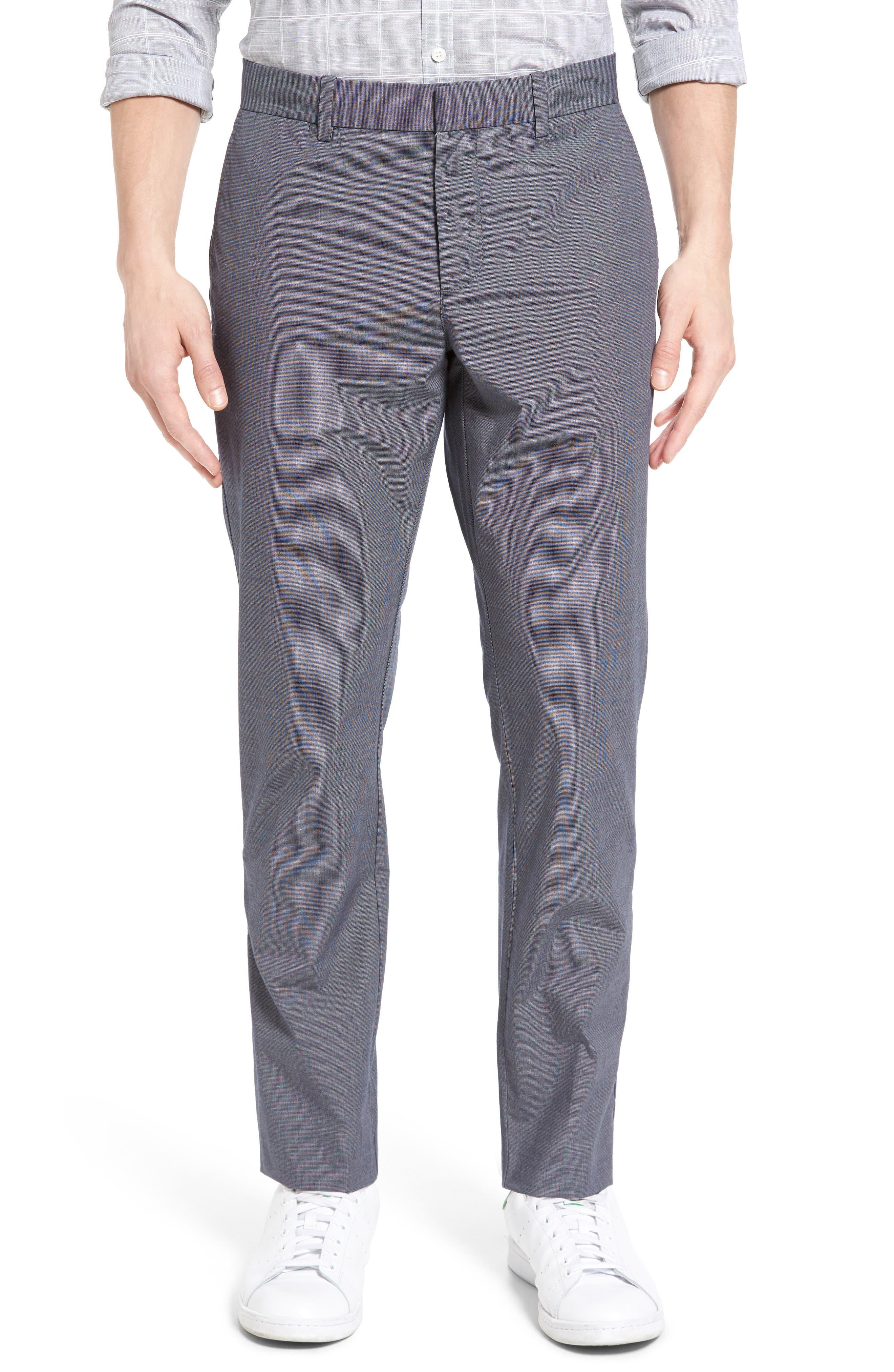 Crosshatch Slub Trousers,                         Main,                         color, Dark Denim