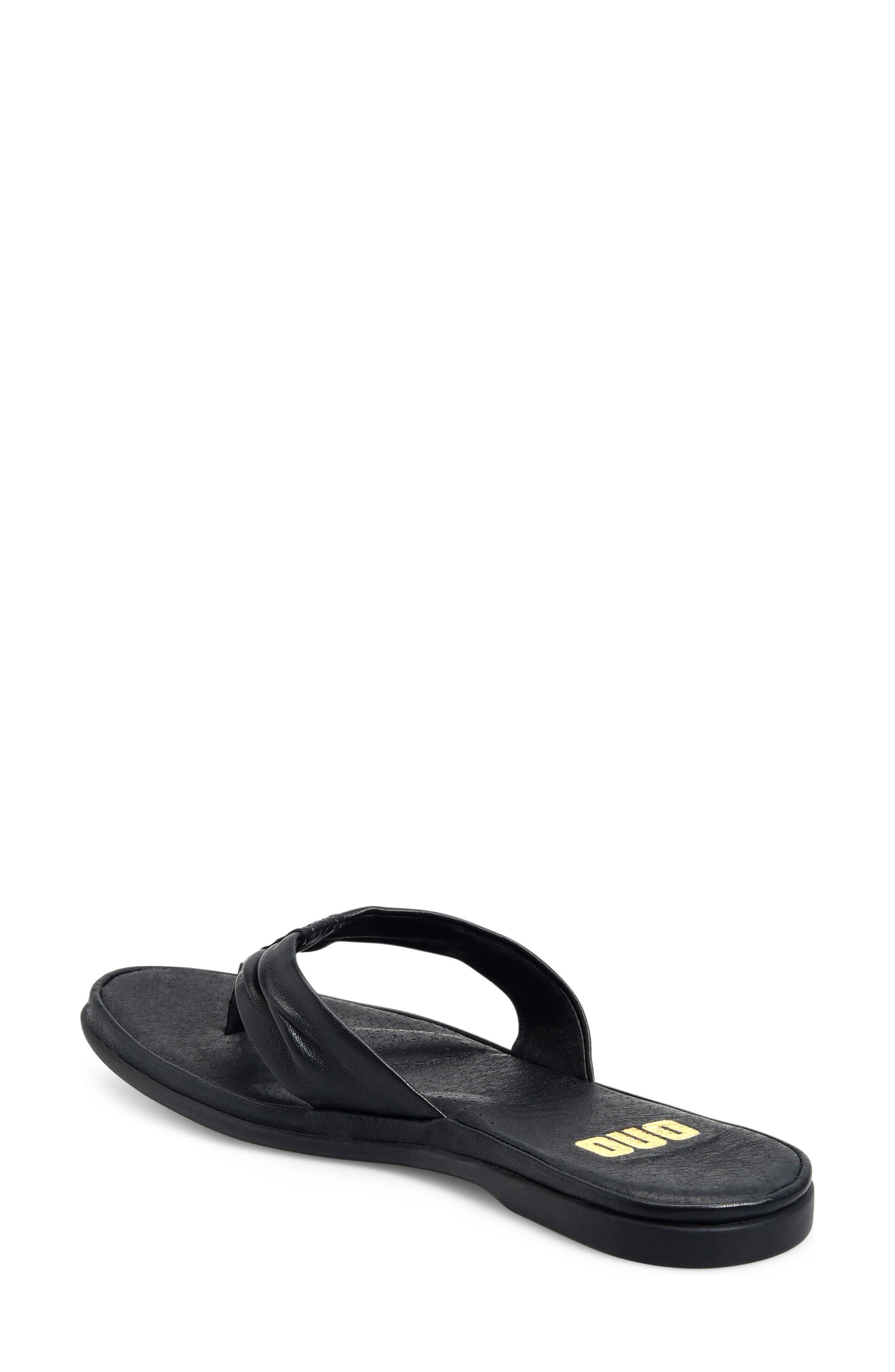 Liv Flip Flop,                             Alternate thumbnail 2, color,                             Black Leather