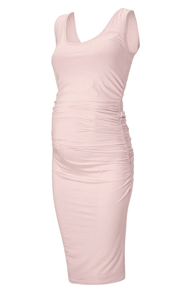 Ellis Side Ruched Maternity Tank Dress