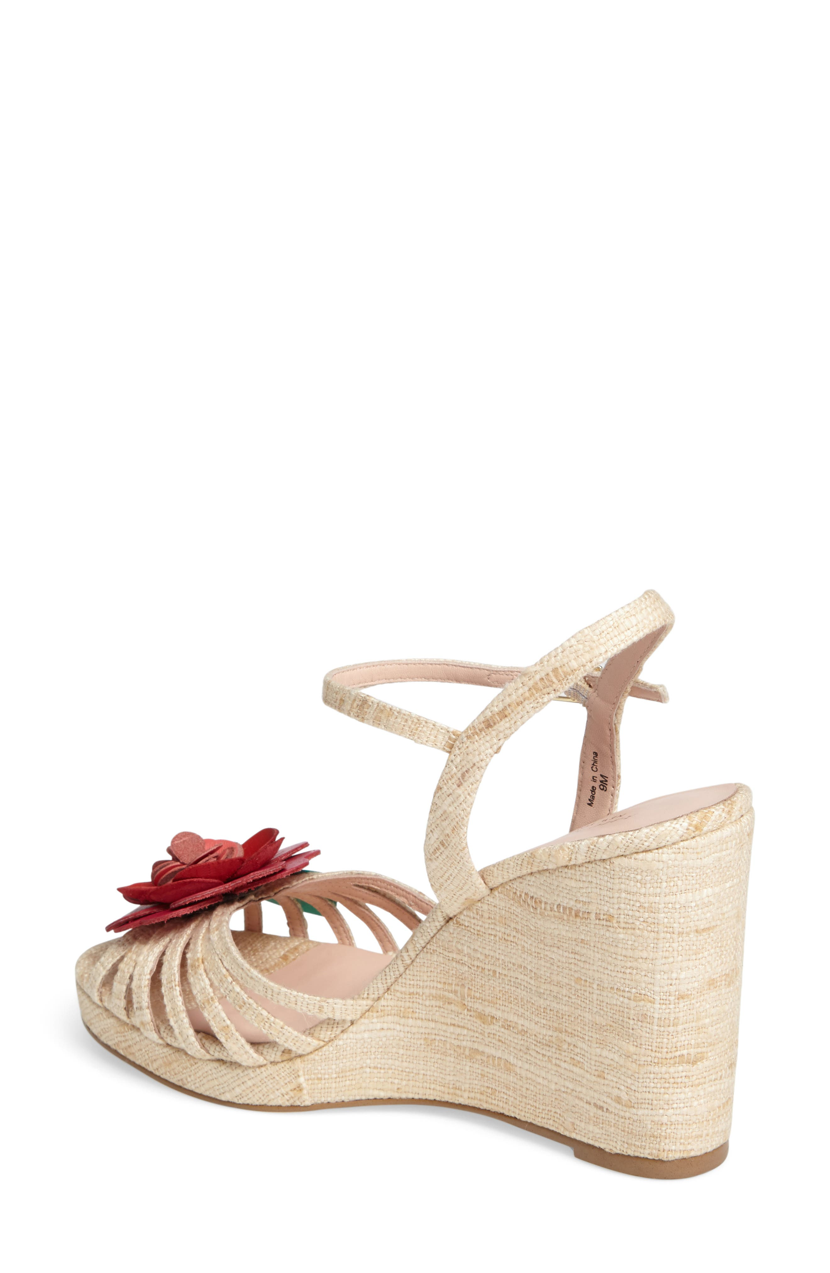 beekman strappy wedge sandal,                             Alternate thumbnail 2, color,                             Natural Raw Silk