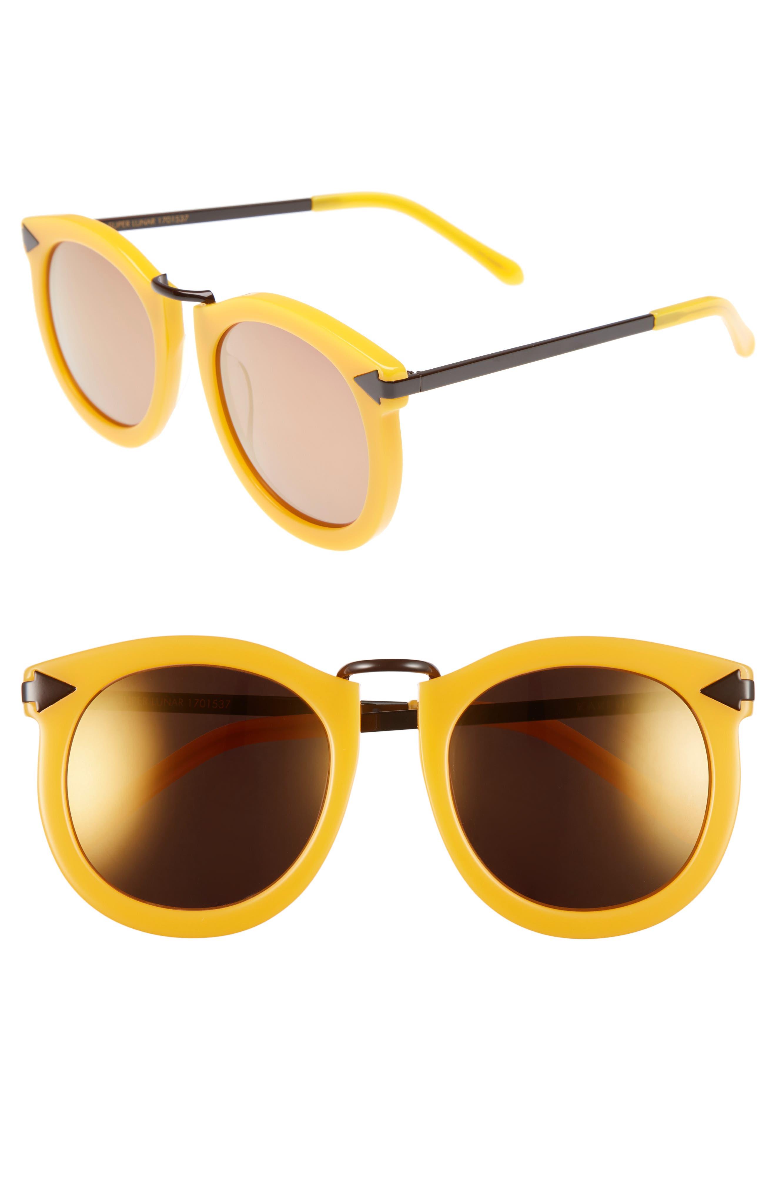 'Super Lunar - Arrowed by Karen' 52mm Sunglasses,                             Main thumbnail 1, color,                             Marigold/ Brown