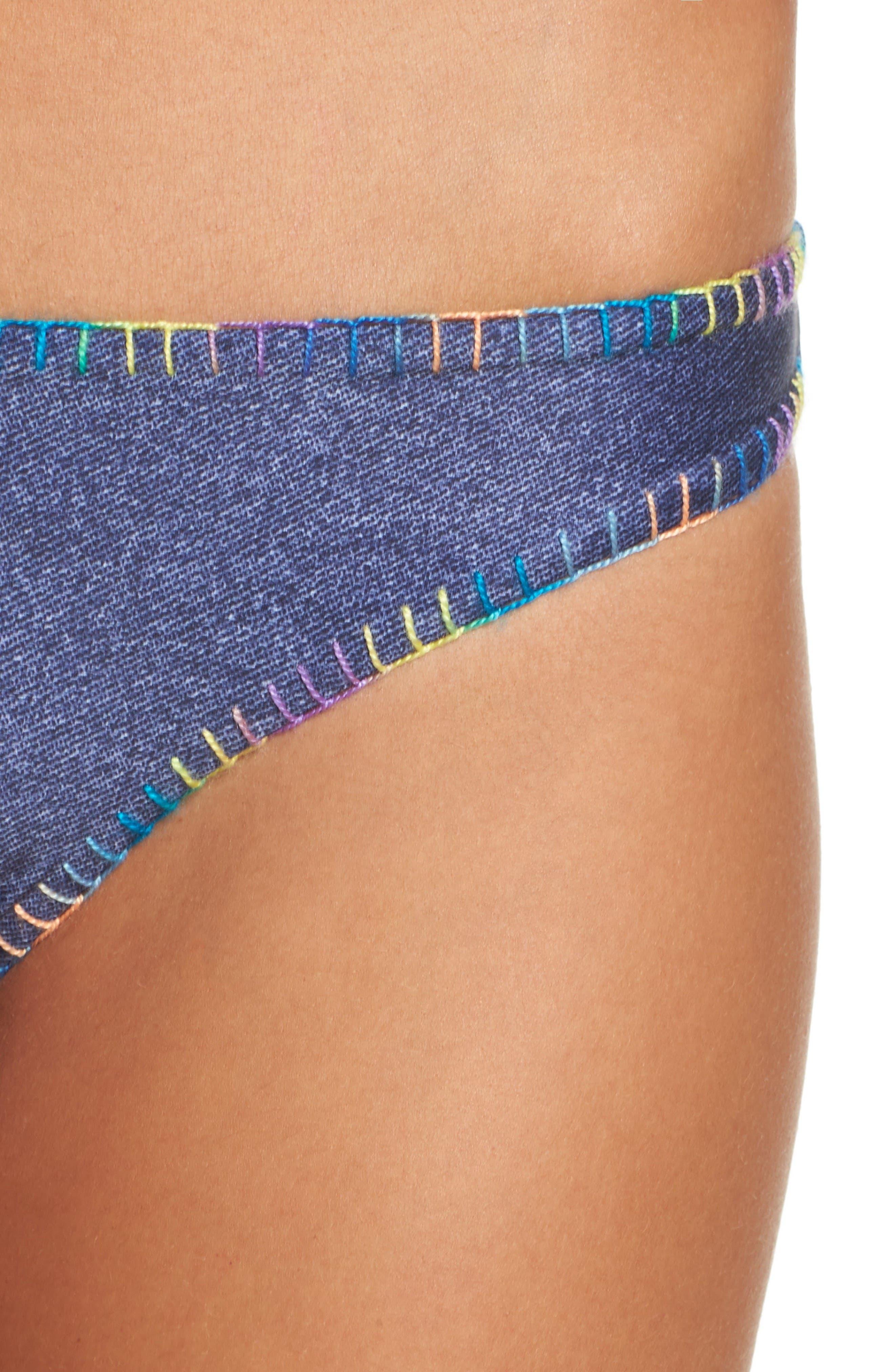 Reversible Bikini Bottoms,                             Alternate thumbnail 5, color,                             Cayman