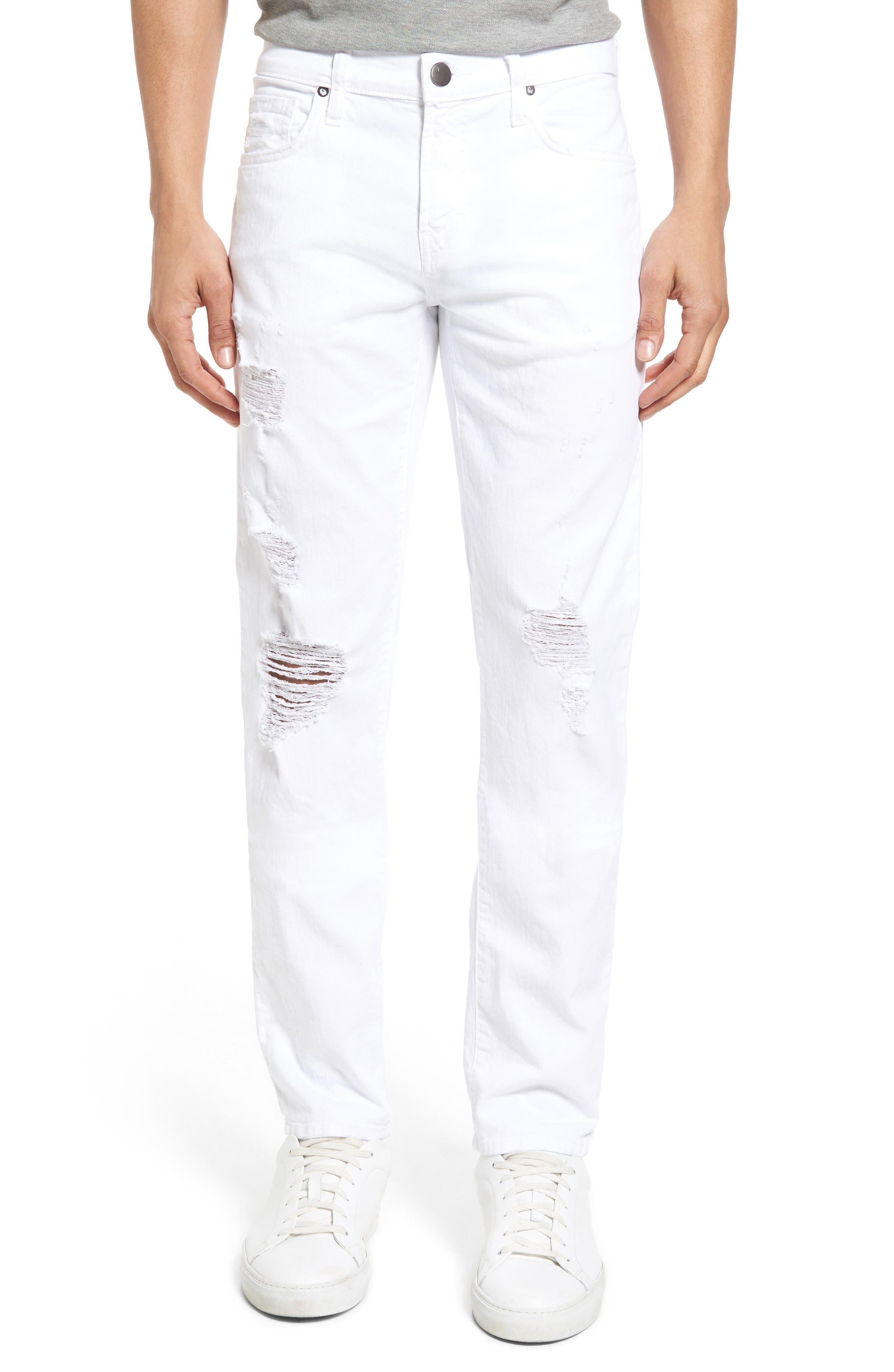 Alternate Image 1 Selected - J Brand Tyler Slim Fit Jeans (Destructed Theoros)