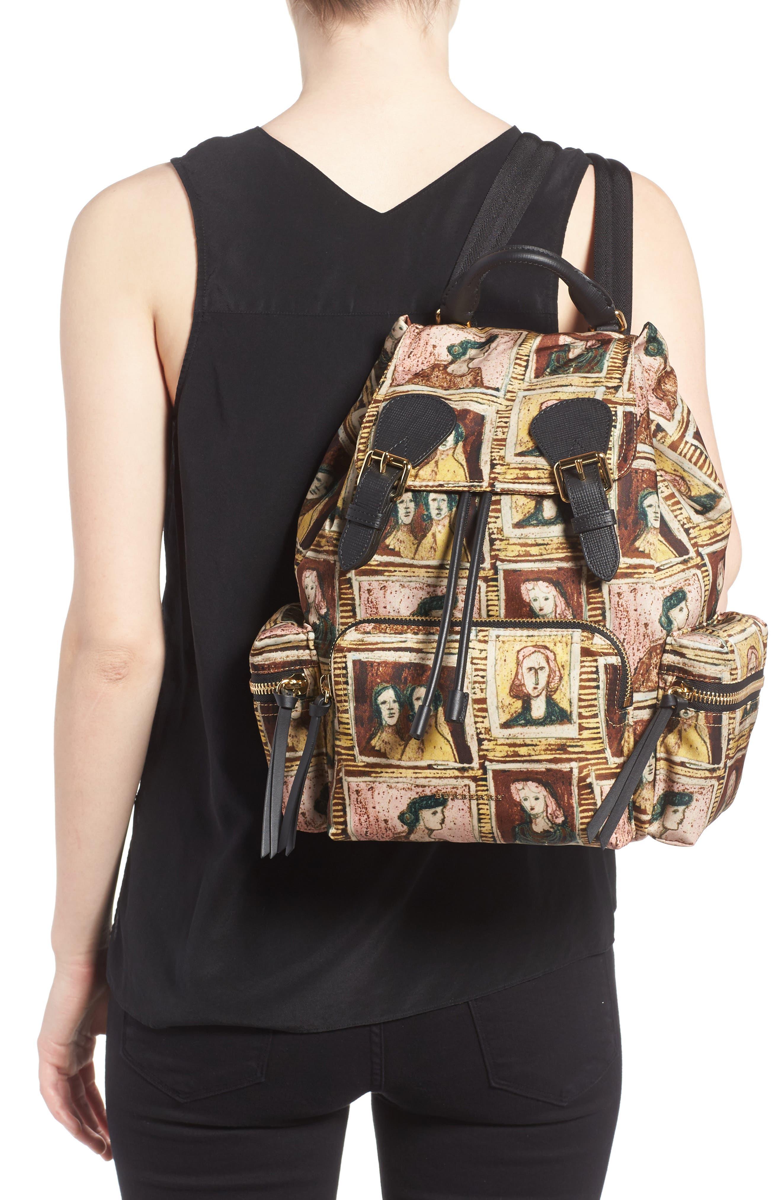 Medium Henrey Backpack,                             Alternate thumbnail 2, color,                             Umber Brown Multi