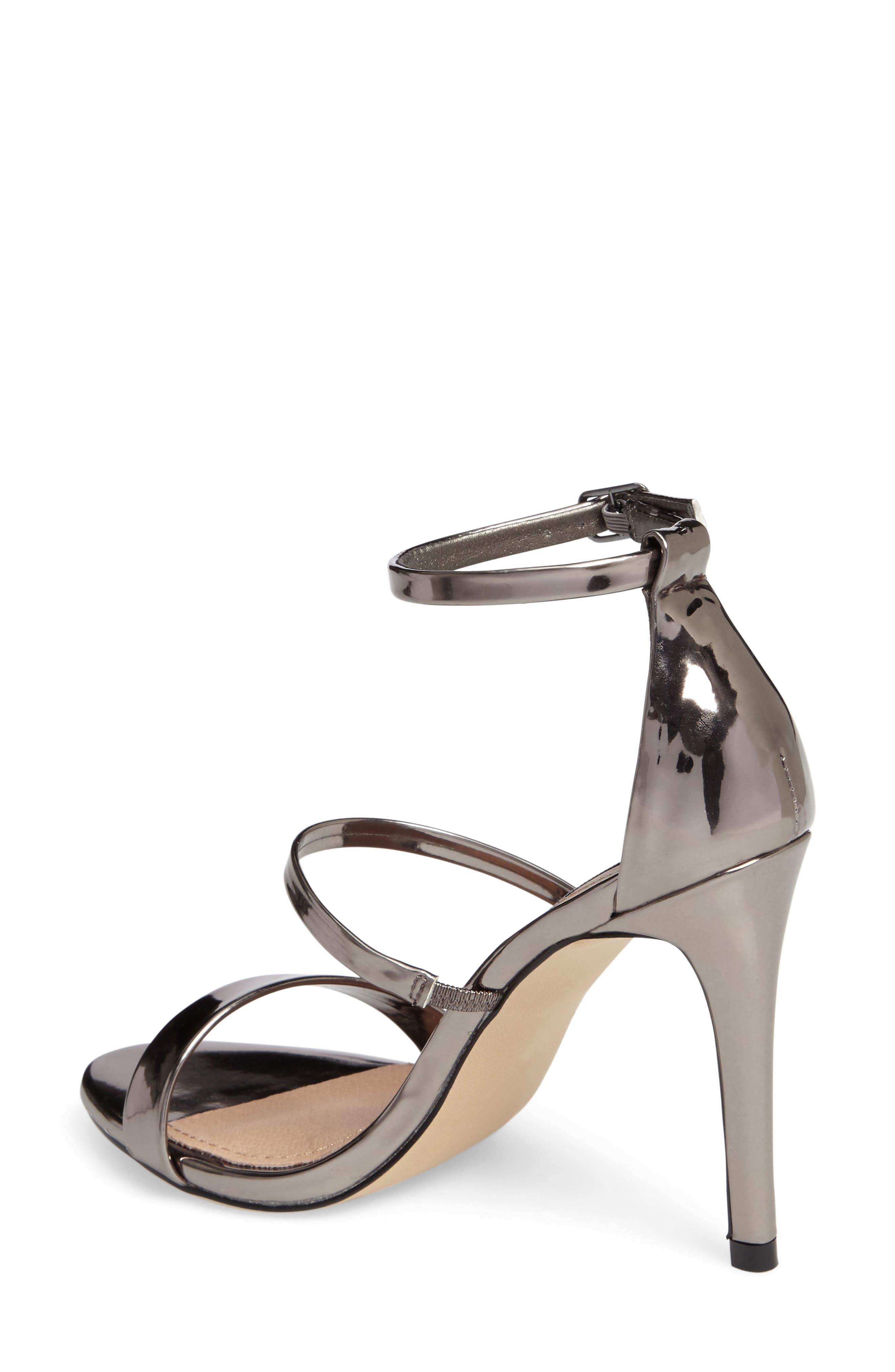 Sheena Strappy Sandal,                             Alternate thumbnail 2, color,                             Pewter Faux Leather