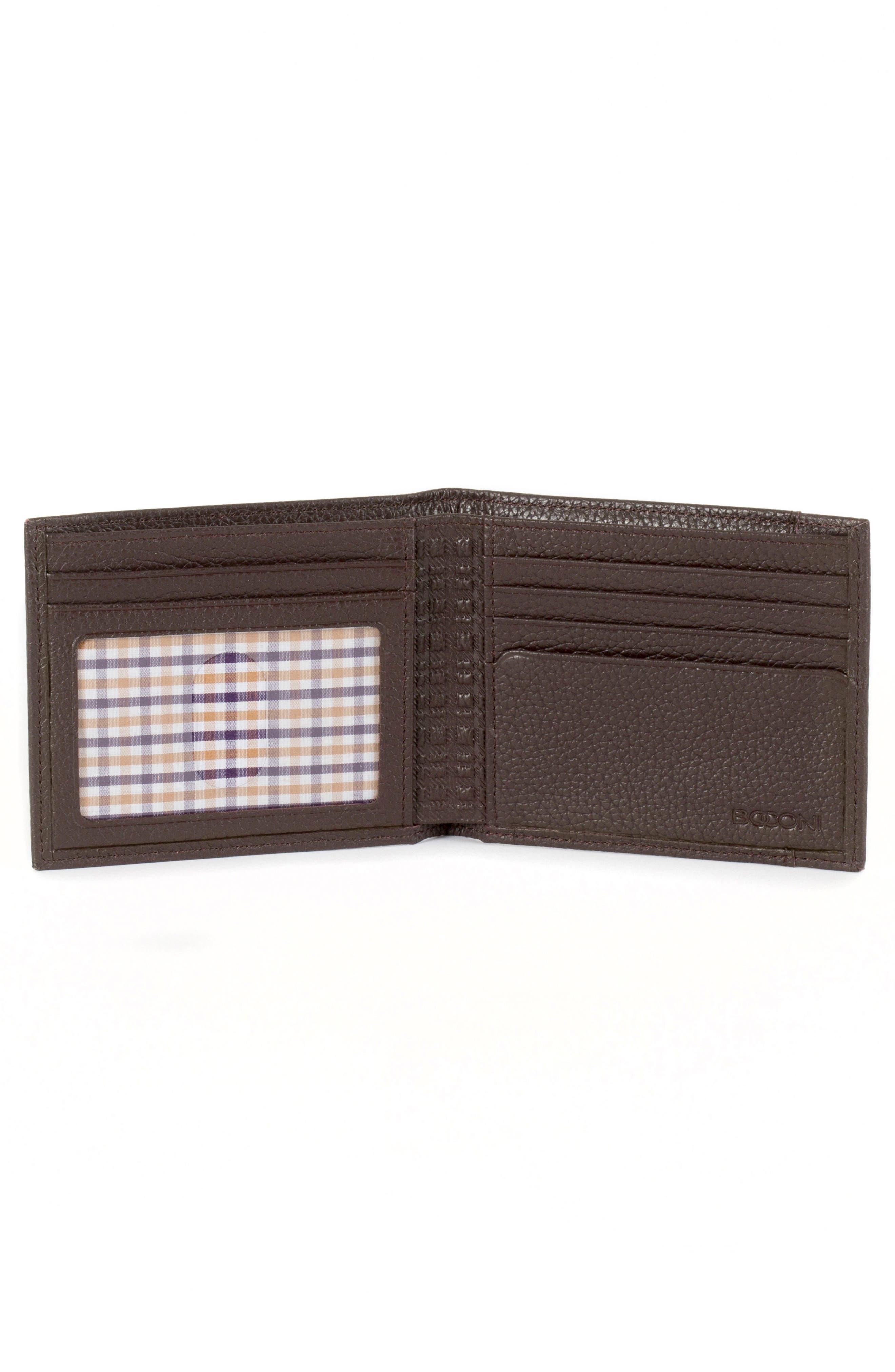 Garth Leather Bifold Wallet,                             Alternate thumbnail 2, color,                             Brown/ Tan/ Purple