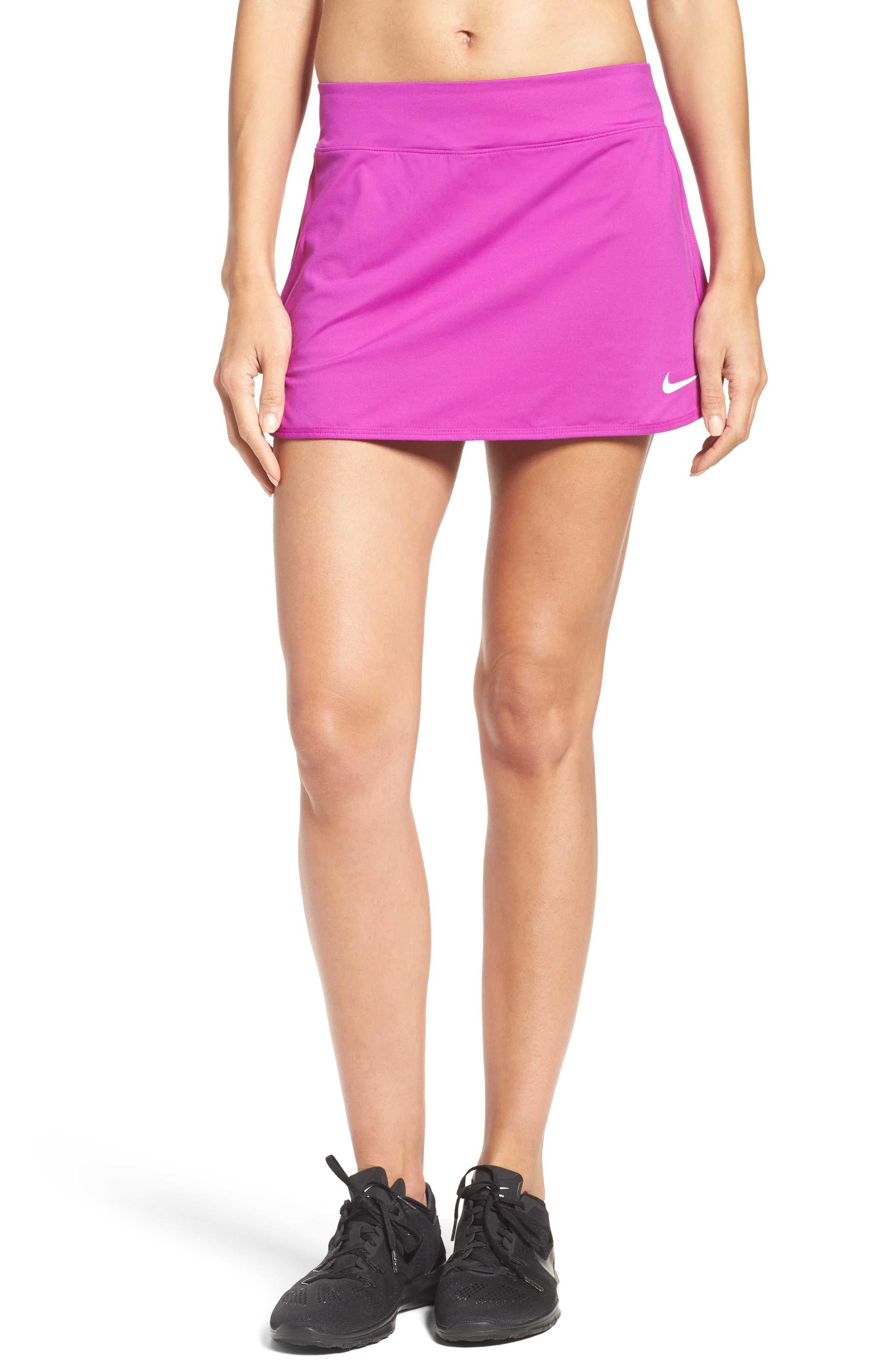 'Pure' Dri-FIT Tennis Skirt,                             Main thumbnail 1, color,                             Vivid Purple/ White