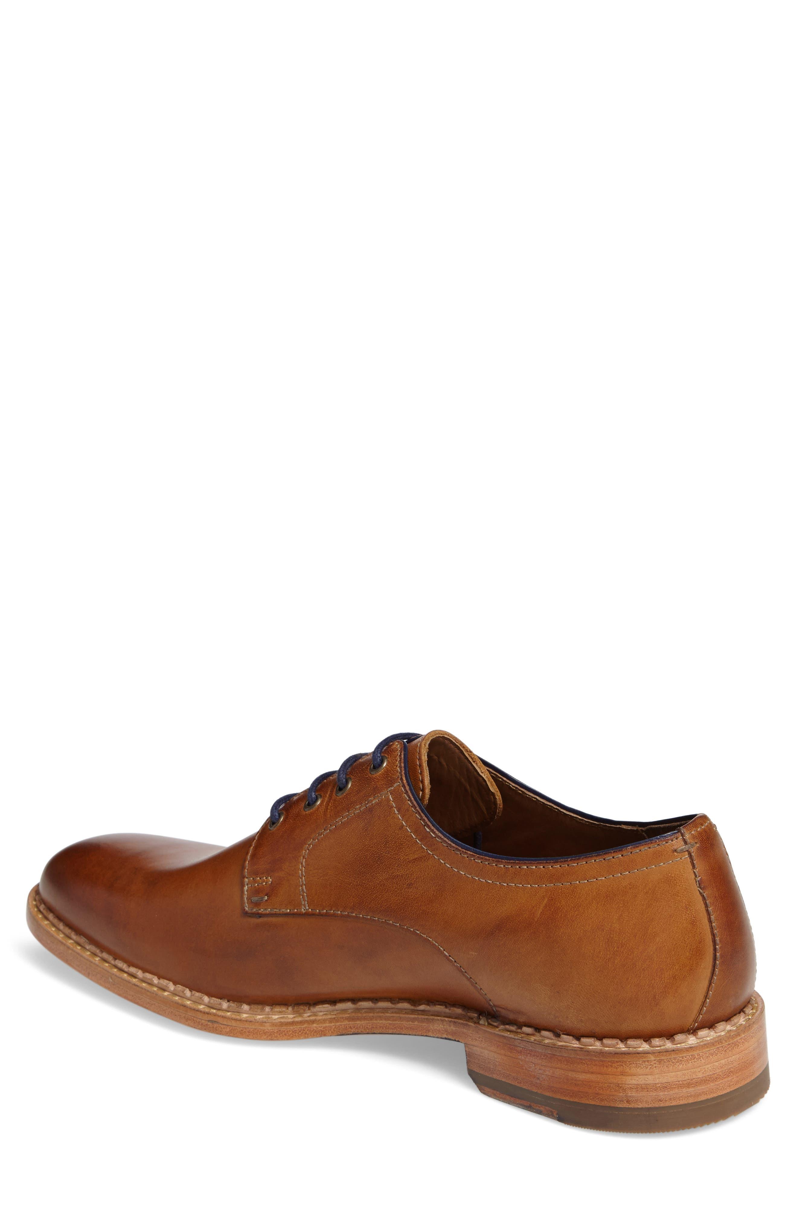 Chambliss Plain Toe Derby,                             Alternate thumbnail 2, color,                             Tan Calfskin