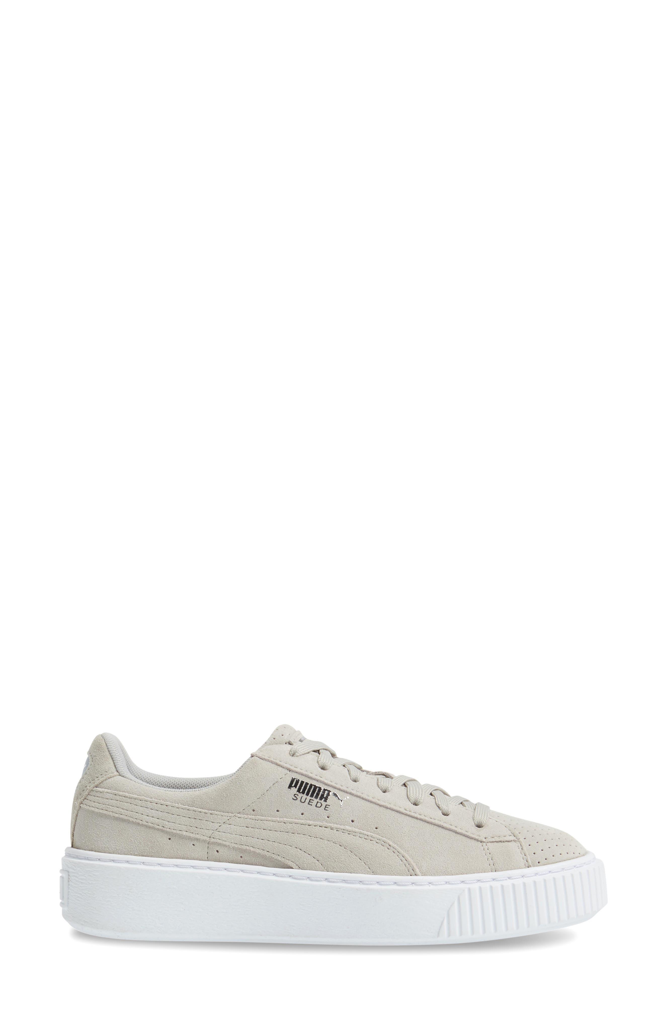 Basket Platform Sneaker,                             Alternate thumbnail 4, color,                             Grey Violet/ Silver