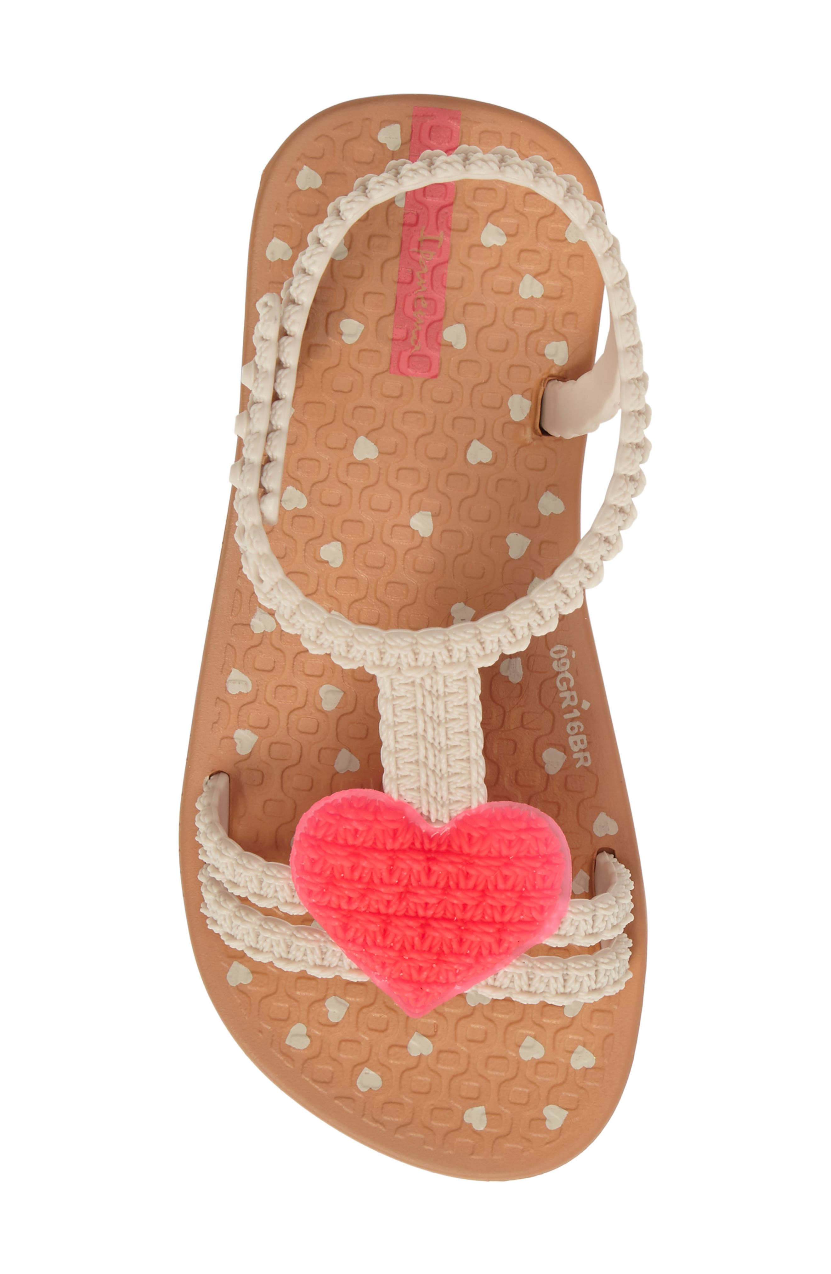 My First Ipanema Sandal,                             Alternate thumbnail 5, color,                             Brown/ Pink