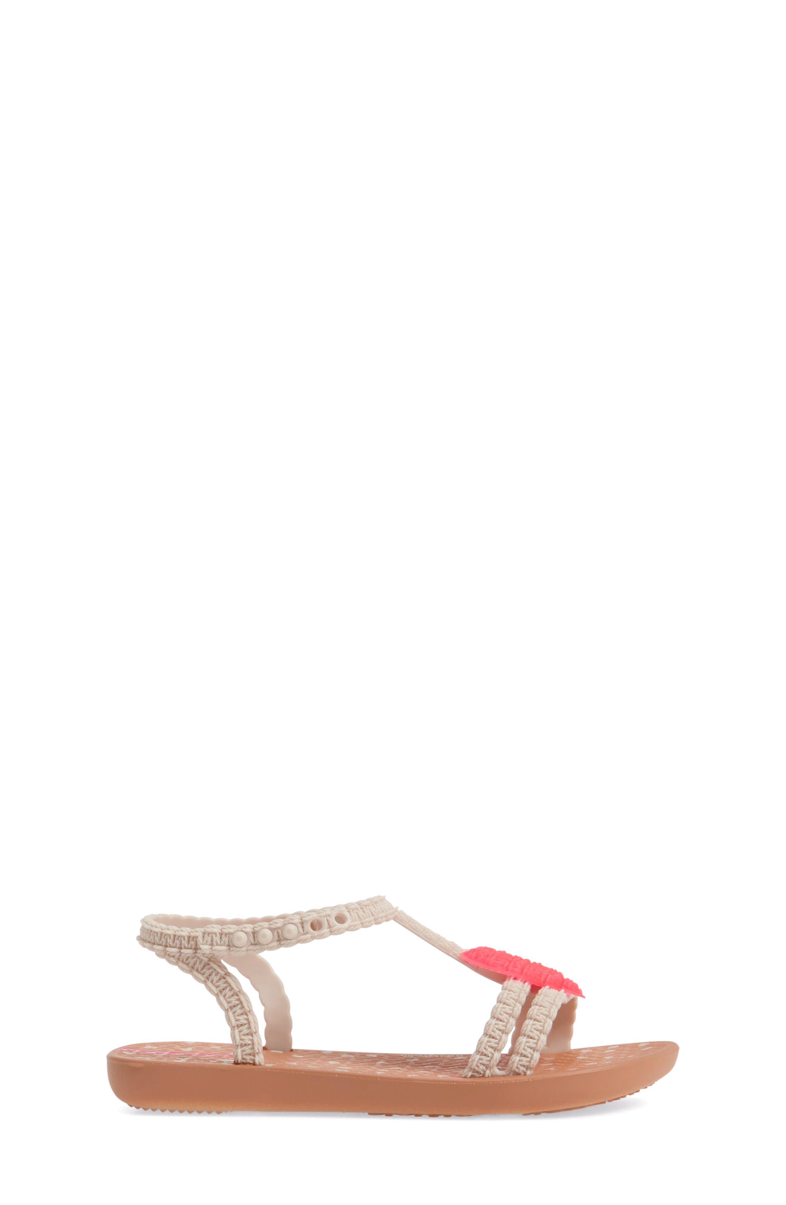 My First Ipanema Sandal,                             Alternate thumbnail 3, color,                             Brown/ Pink