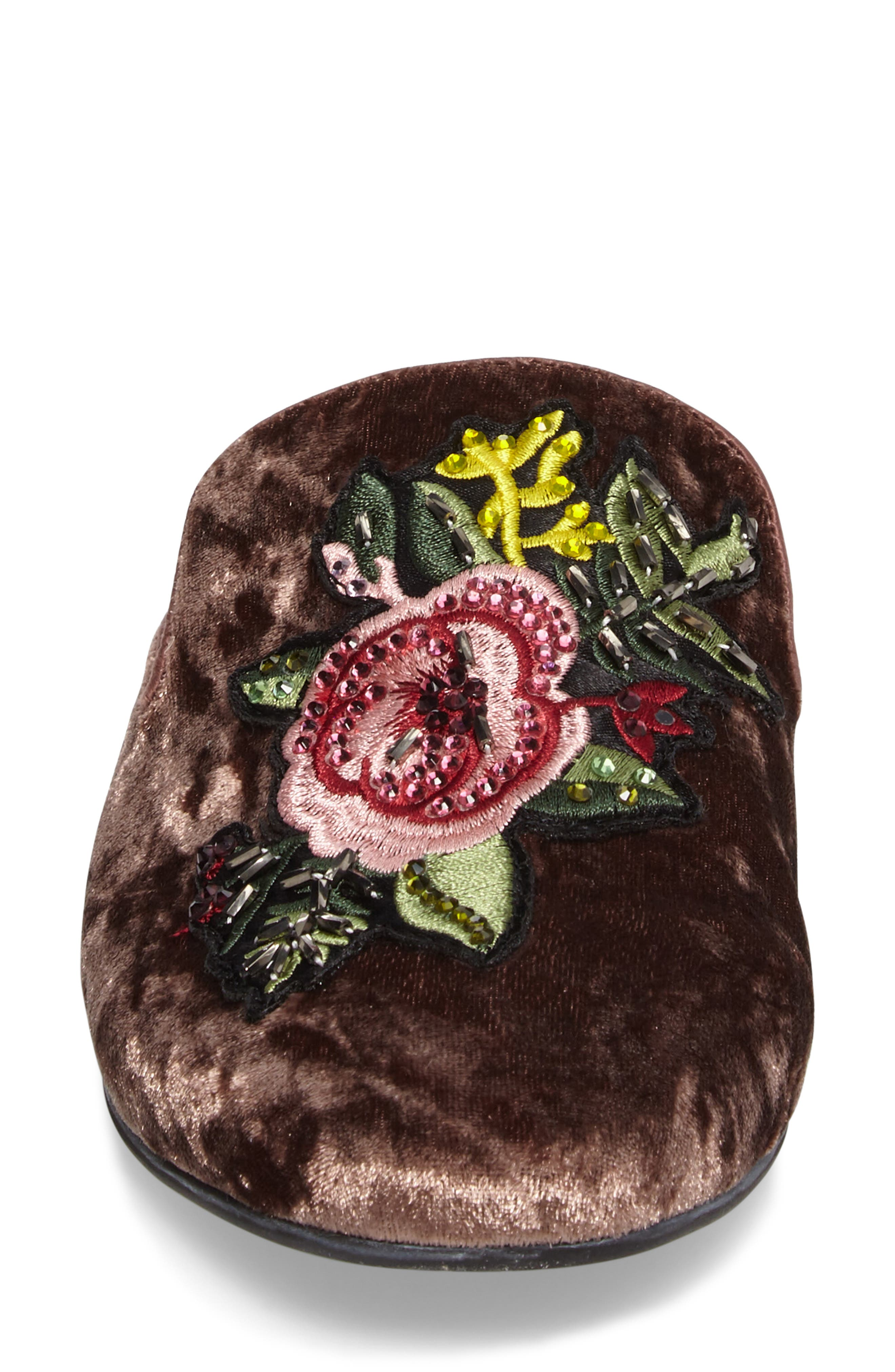 Hugh Embellished Mule,                             Alternate thumbnail 4, color,                             Pink Velvet