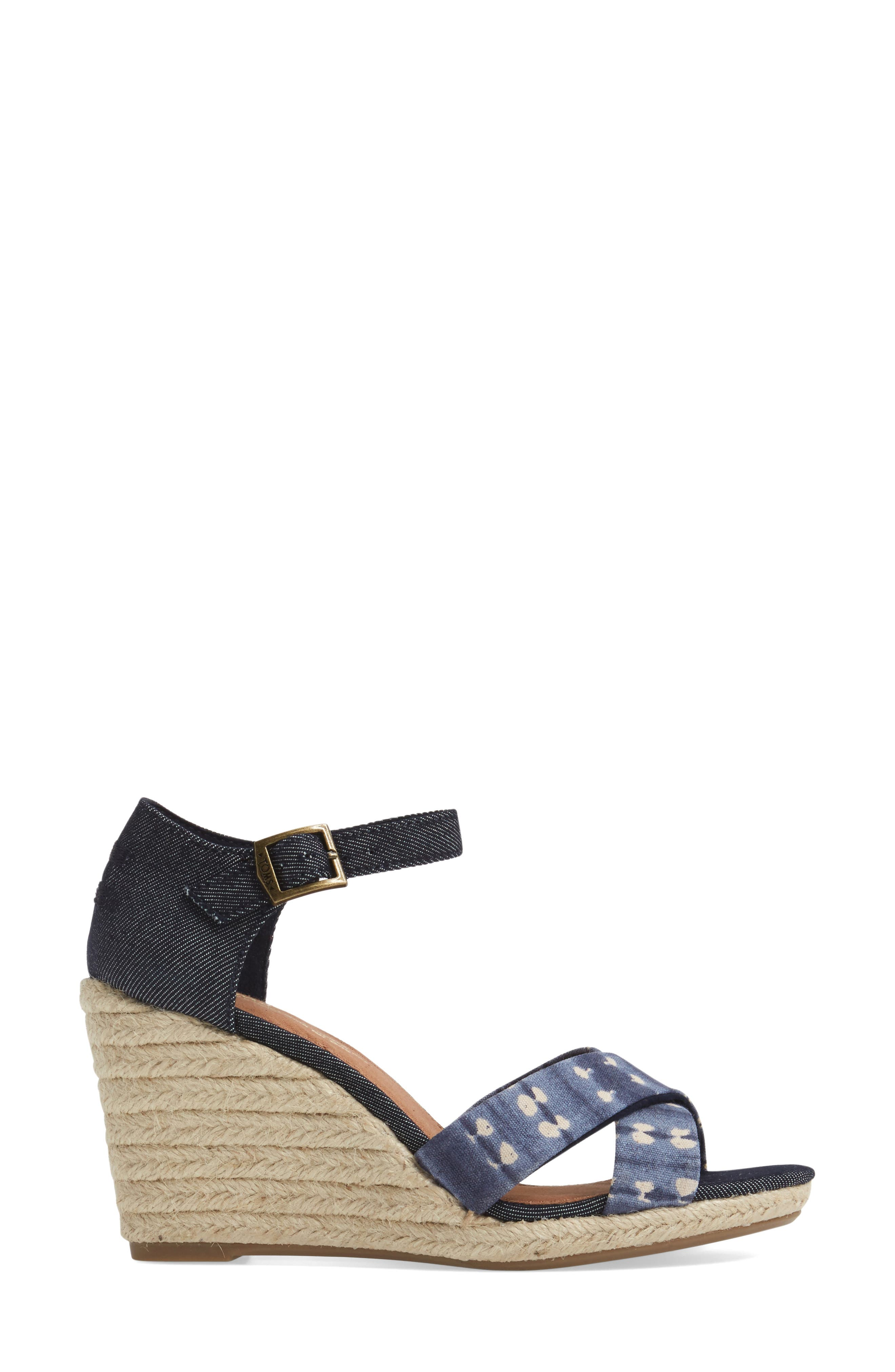 Alternate Image 3  - TOMS Sienna Wedge Sandal (Women)