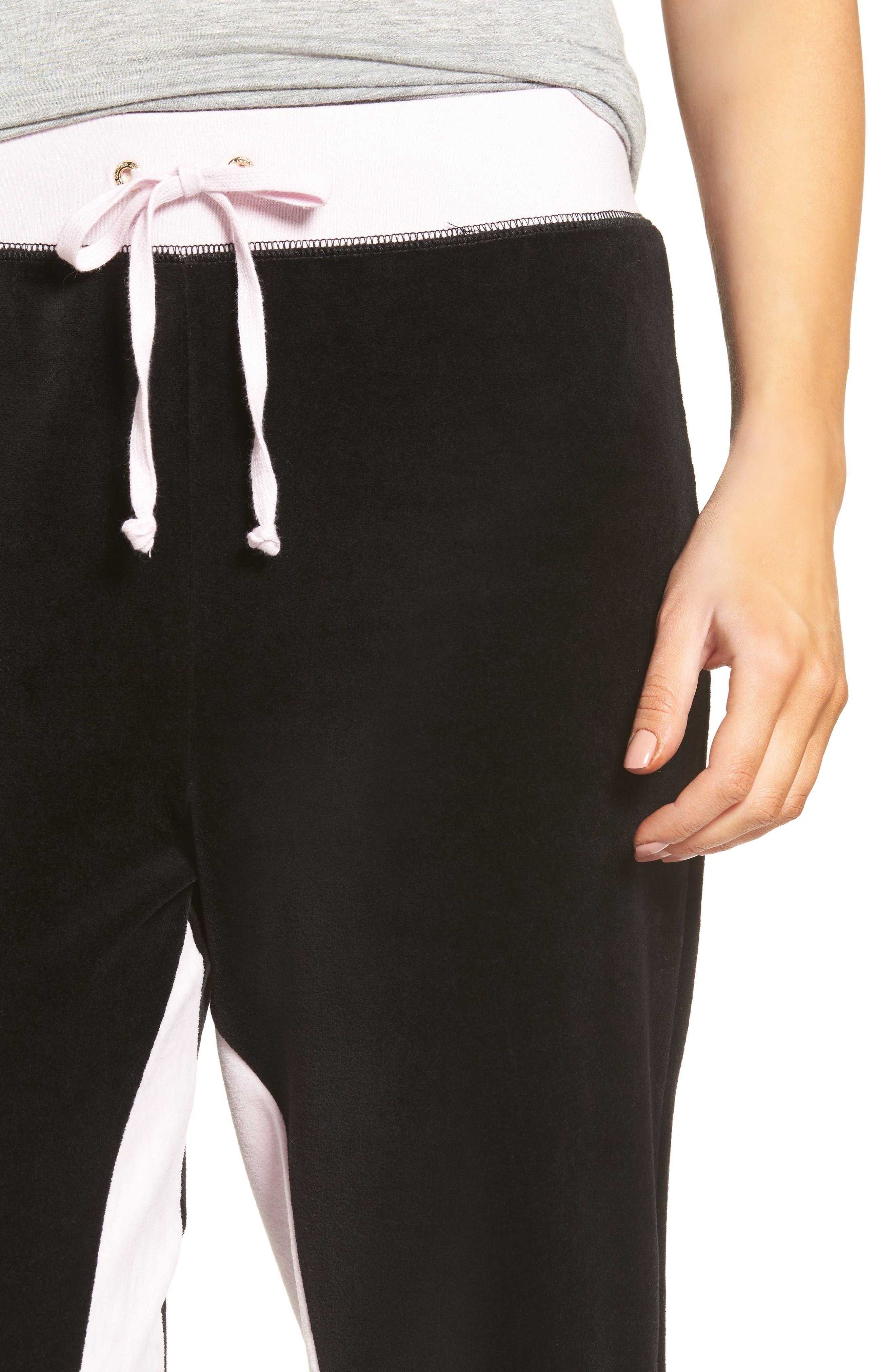 Alternate Image 4  - Juicy Couture Silverlake Colorblock Velour Track Pants