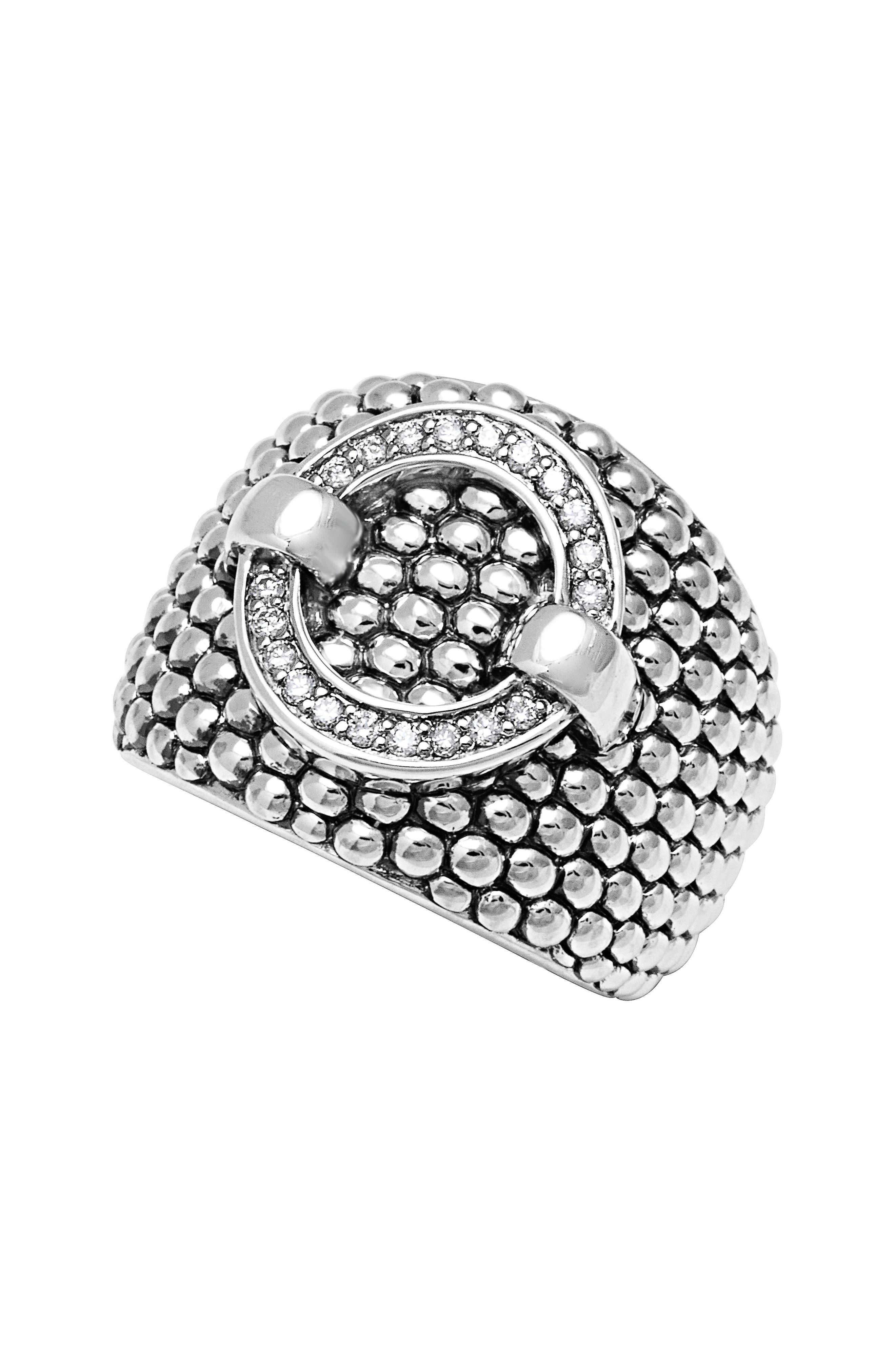 Main Image - LAGOS 'Enso' Diamond Statement Ring