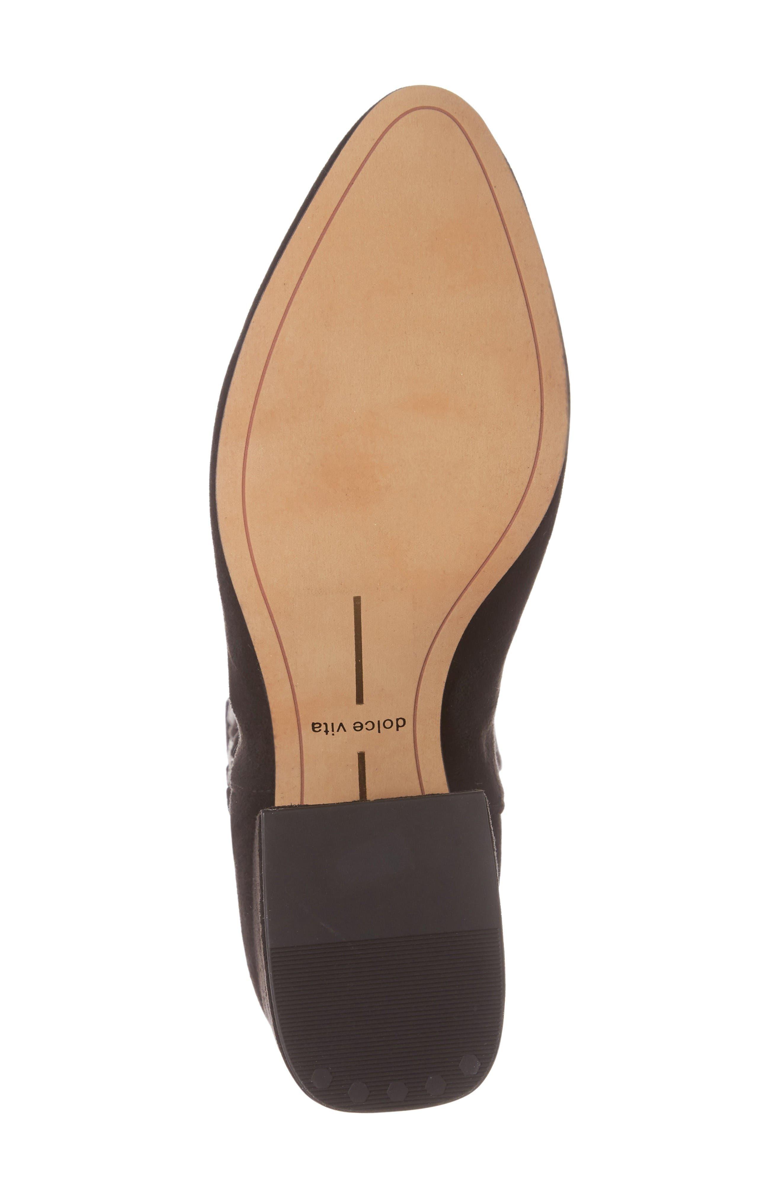 Vix Thigh High Boot,                             Alternate thumbnail 5, color,                             Black Suede