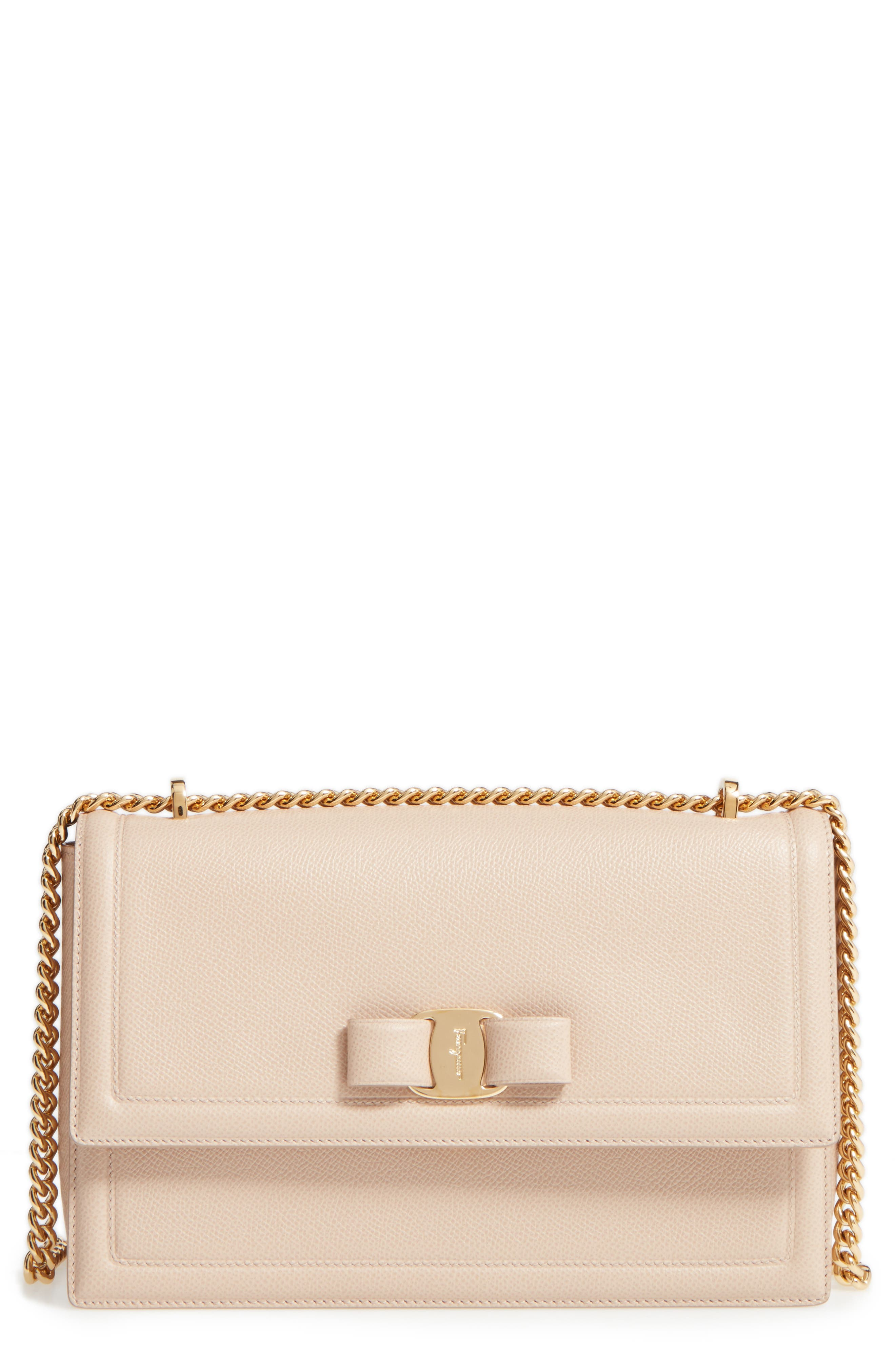 Salvatore Ferragamo Medium Ginny Leather Shoulder Bag