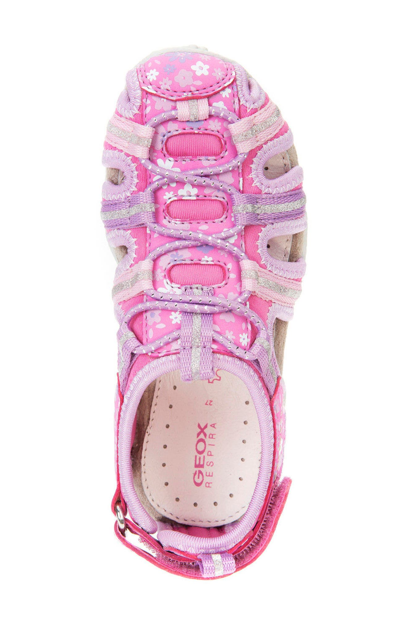 'Jr Roxanne 38' Sandal,                             Alternate thumbnail 5, color,                             Fuchsia/ Lilac