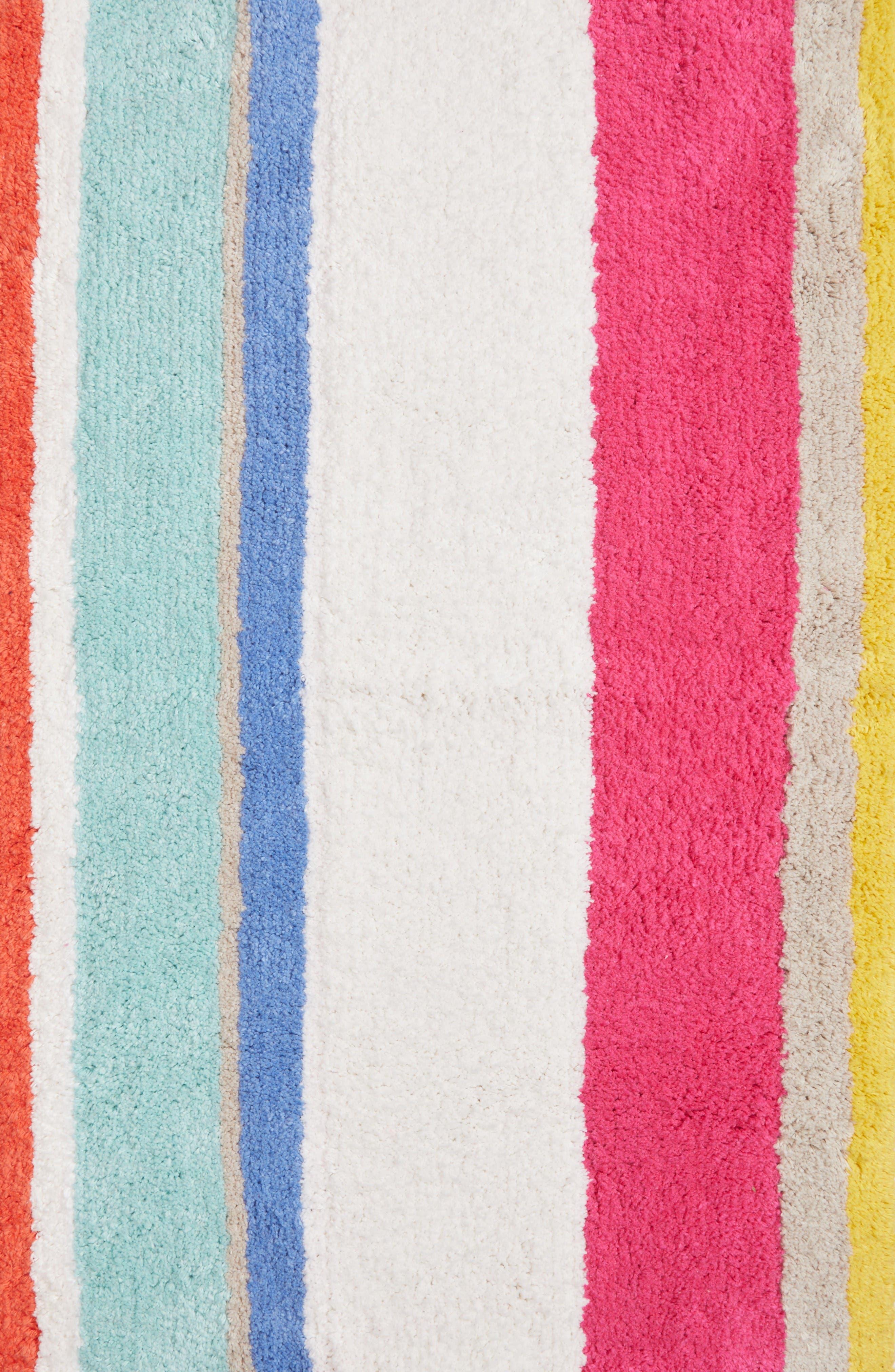 Alternate Image 2  - kate spade new york paintball stripe bath rug