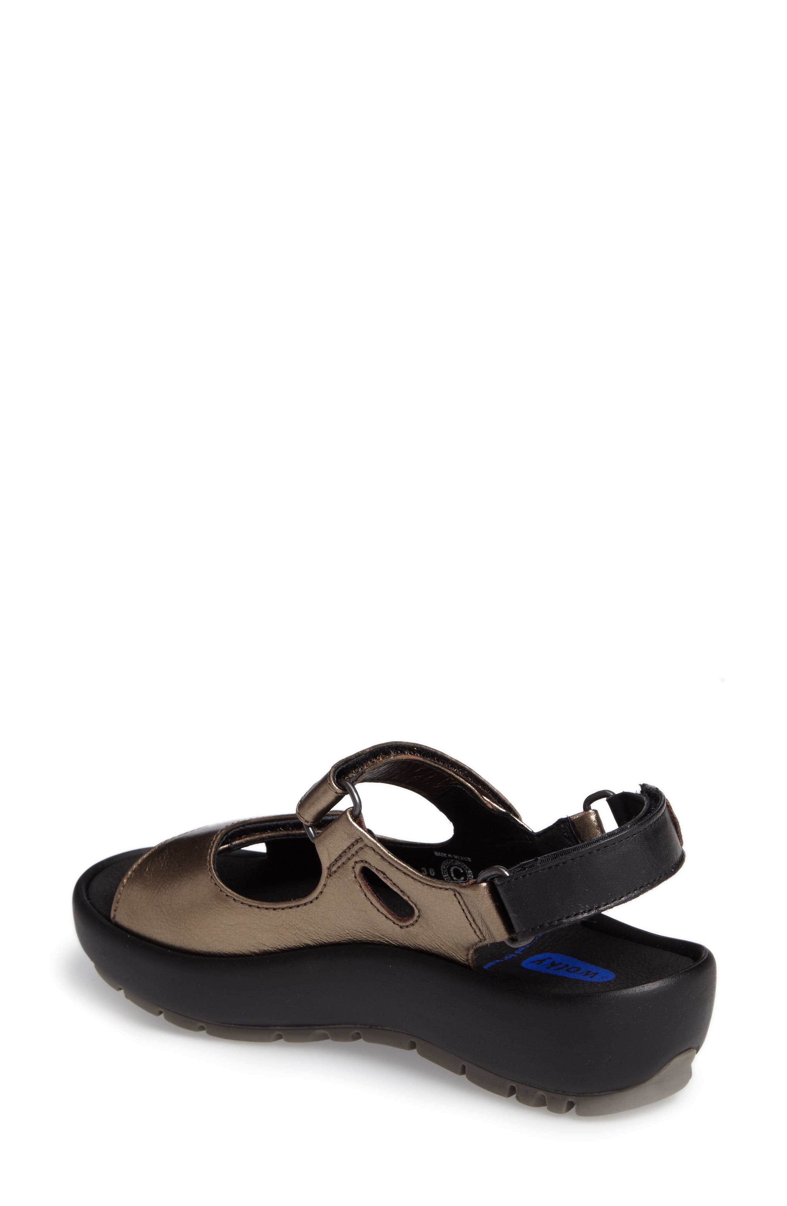 Rio Sandal,                             Alternate thumbnail 2, color,                             Bronze Metallic Leather