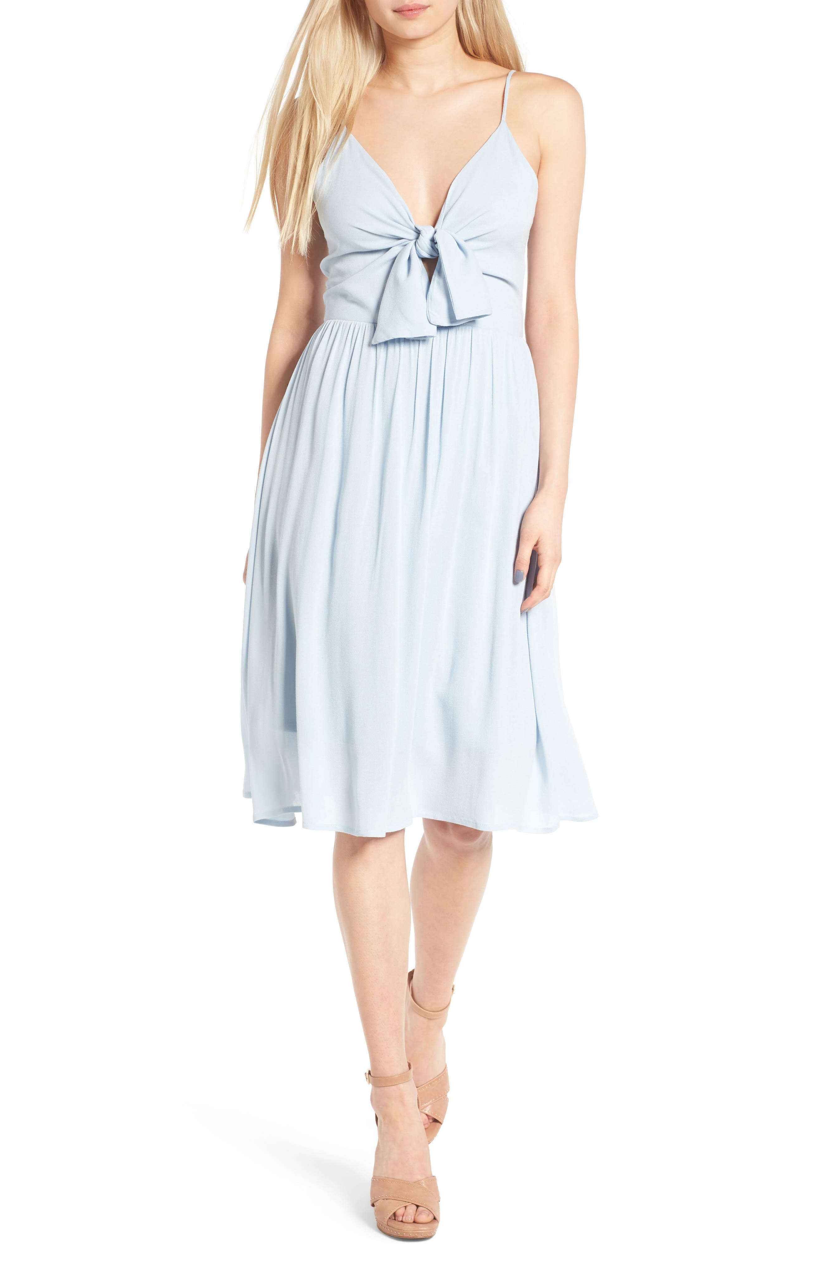Main Image - Leith Tie Front Dress