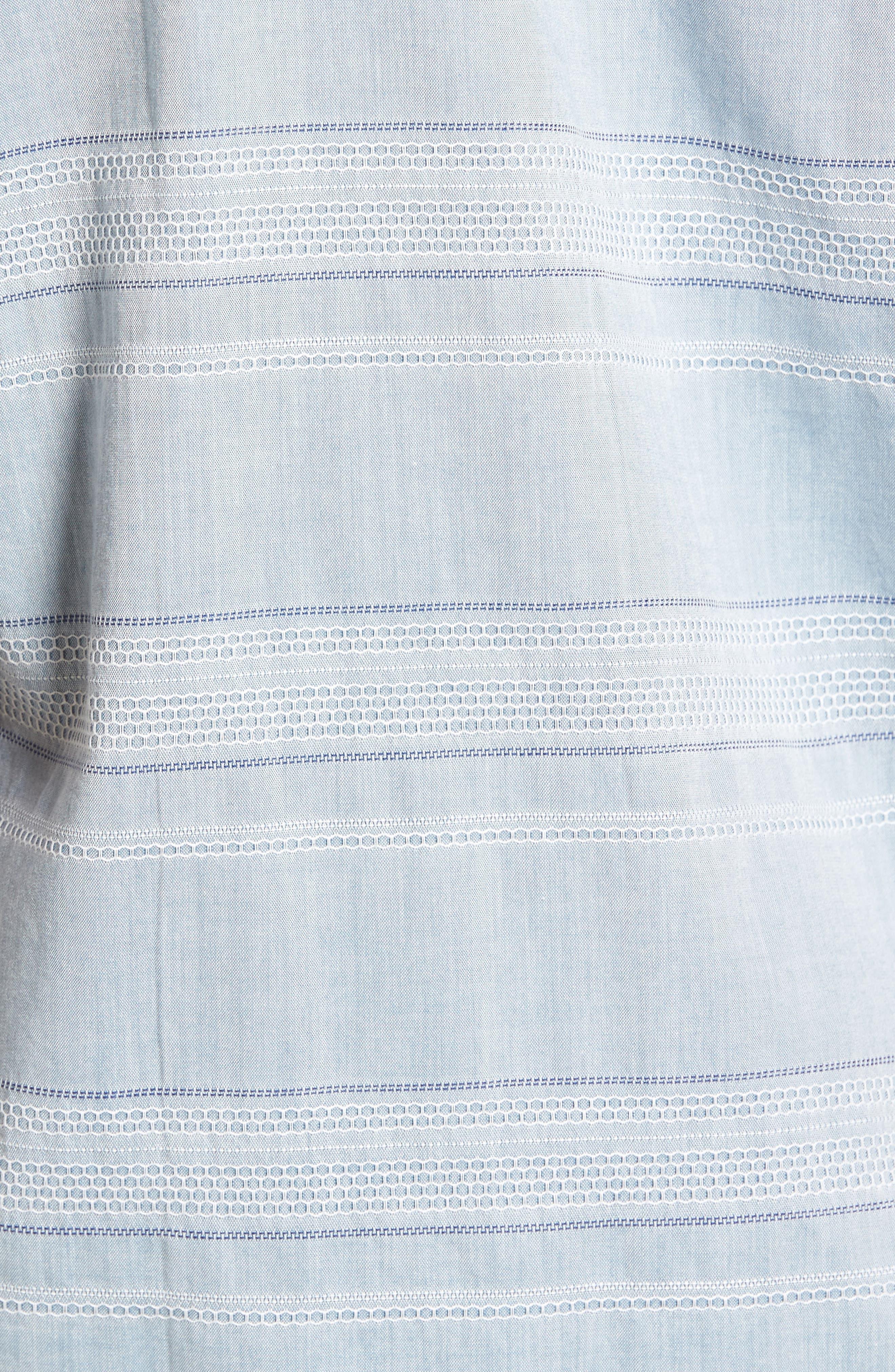 Alternate Image 5  - 1901 Jacquard Trim Fit Sport Shirt