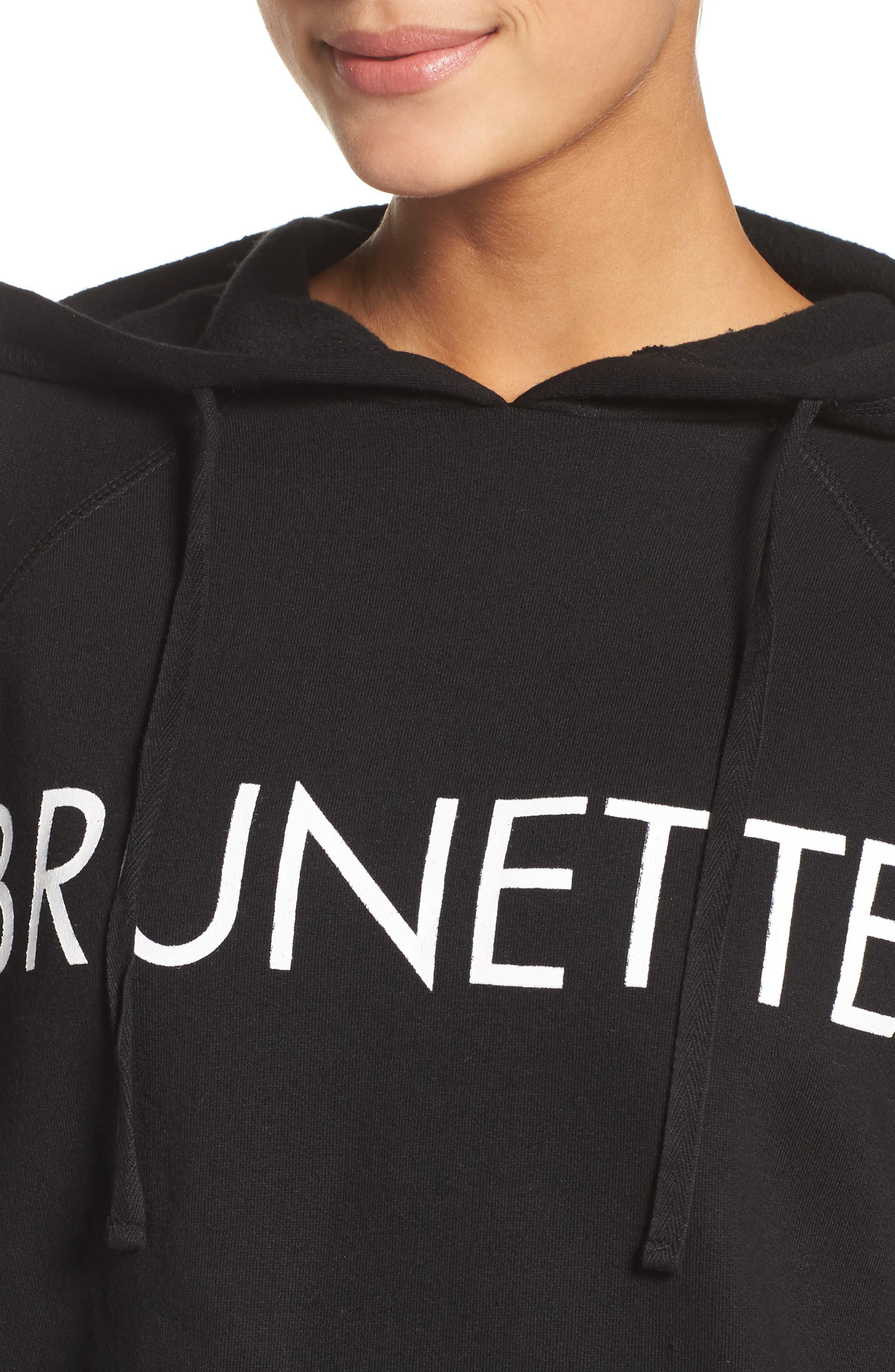 Brunette Lounge Hoodie,                             Alternate thumbnail 4, color,                             Black