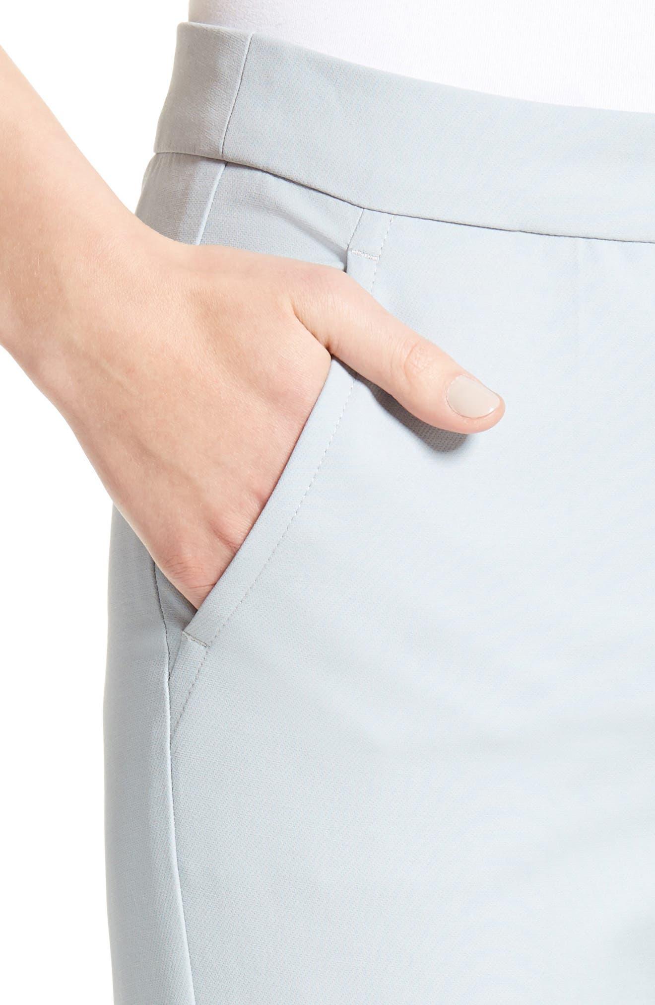 Armani Collezion Tech Cotton Cuff Pants,                             Alternate thumbnail 6, color,                             Cloud