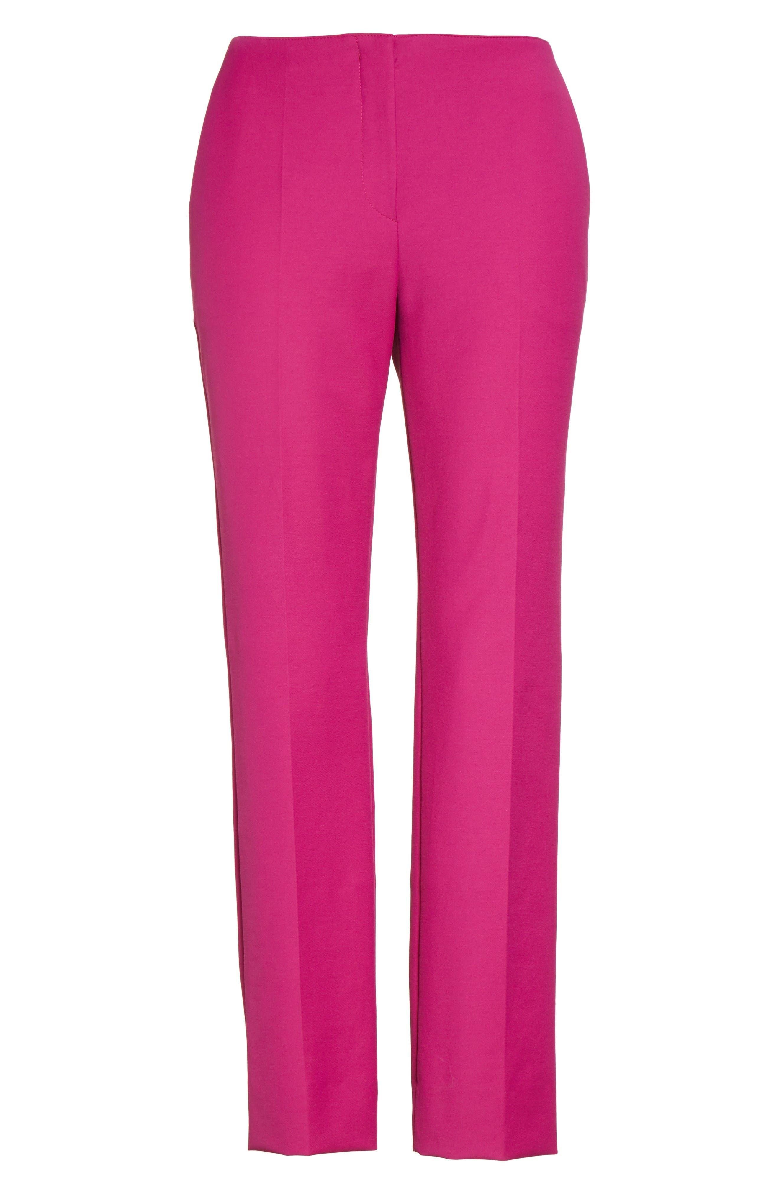Tech Cotton Blend Slim Pants,                             Alternate thumbnail 4, color,                             Orchid