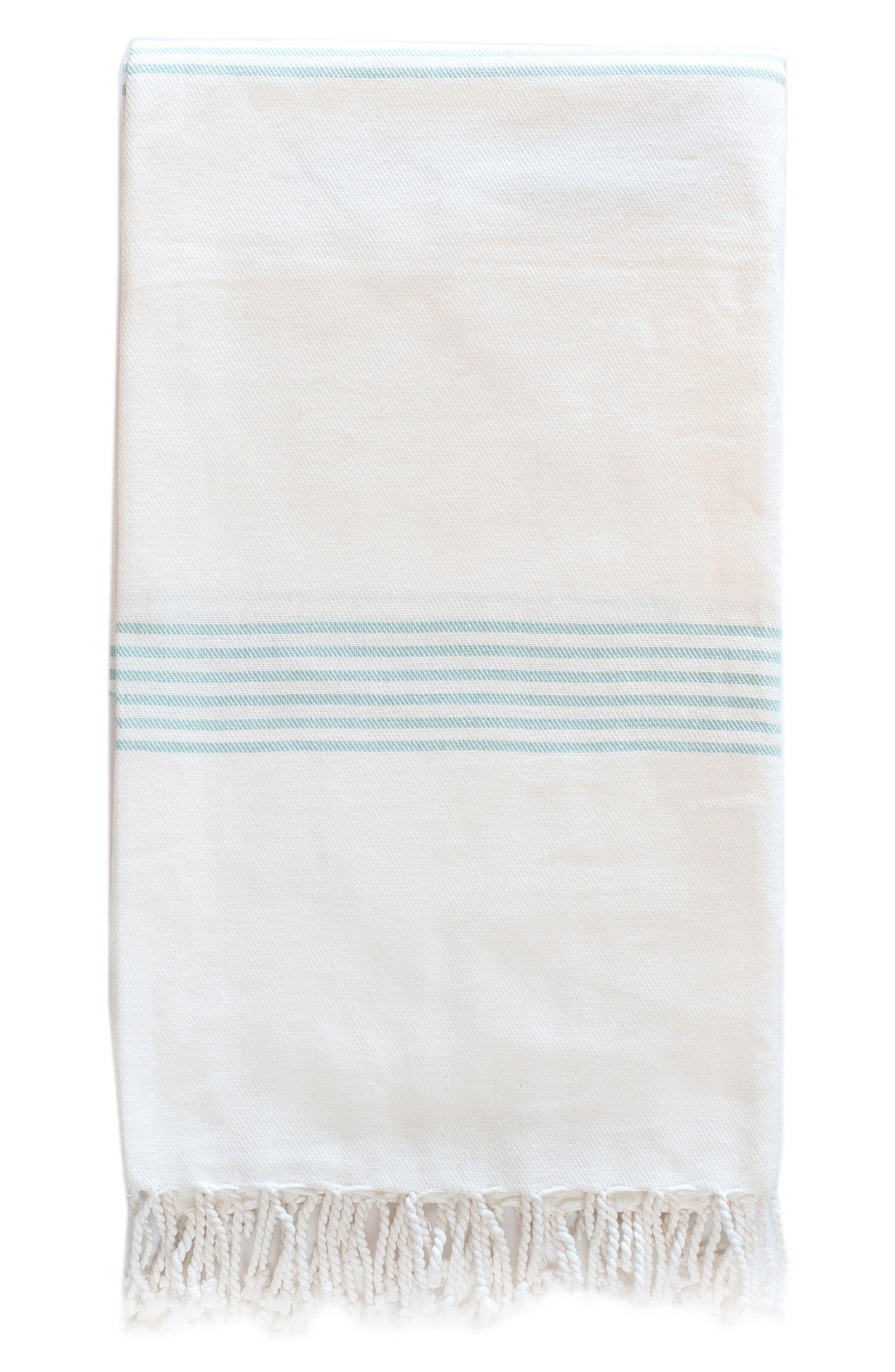Hudson Throw Blanket,                             Main thumbnail 1, color,                             Aqua